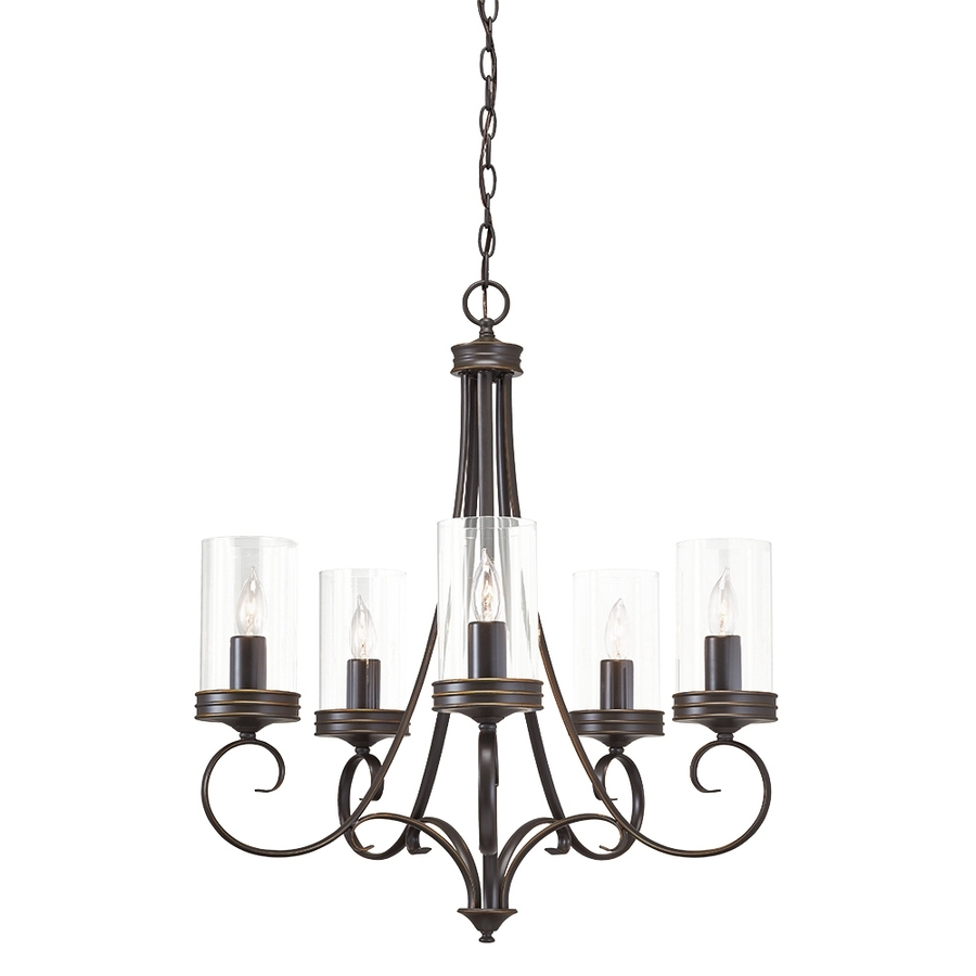 Candle Light Chandelier In Famous Shop Kichler Diana 25 In 5 Light Olde Bronze Williamsburg Clear (View 5 of 15)