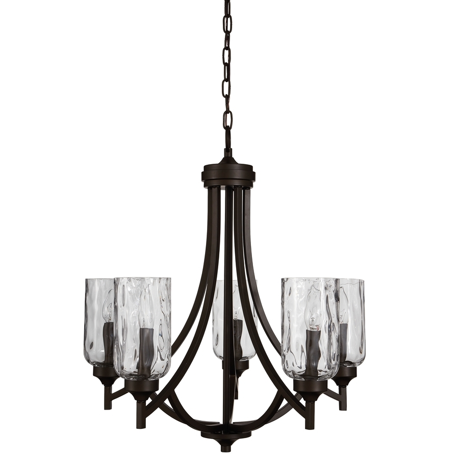 Candle Look Chandeliers Regarding 2018 Shop Chandeliers At Lowes (View 8 of 15)