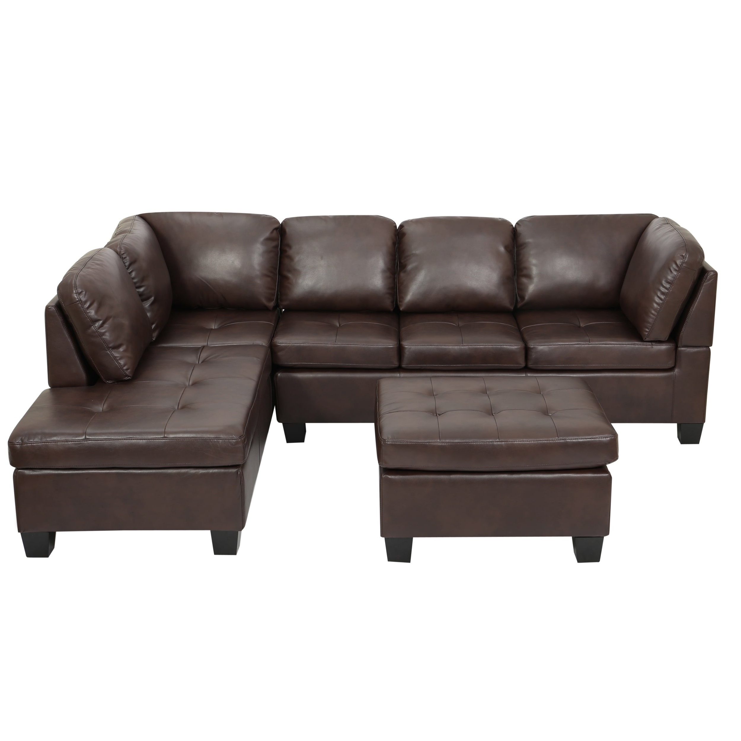 Canterbury 3 Piece Pu Leather Sectional Sofa Setchristopher Pertaining To Most Popular Canterbury Leather Sofas (View 4 of 15)