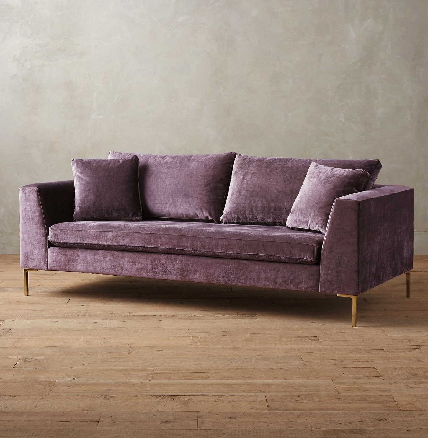 Casa Brooklyn With Well Liked Velvet Purple Sofas (View 13 of 15)