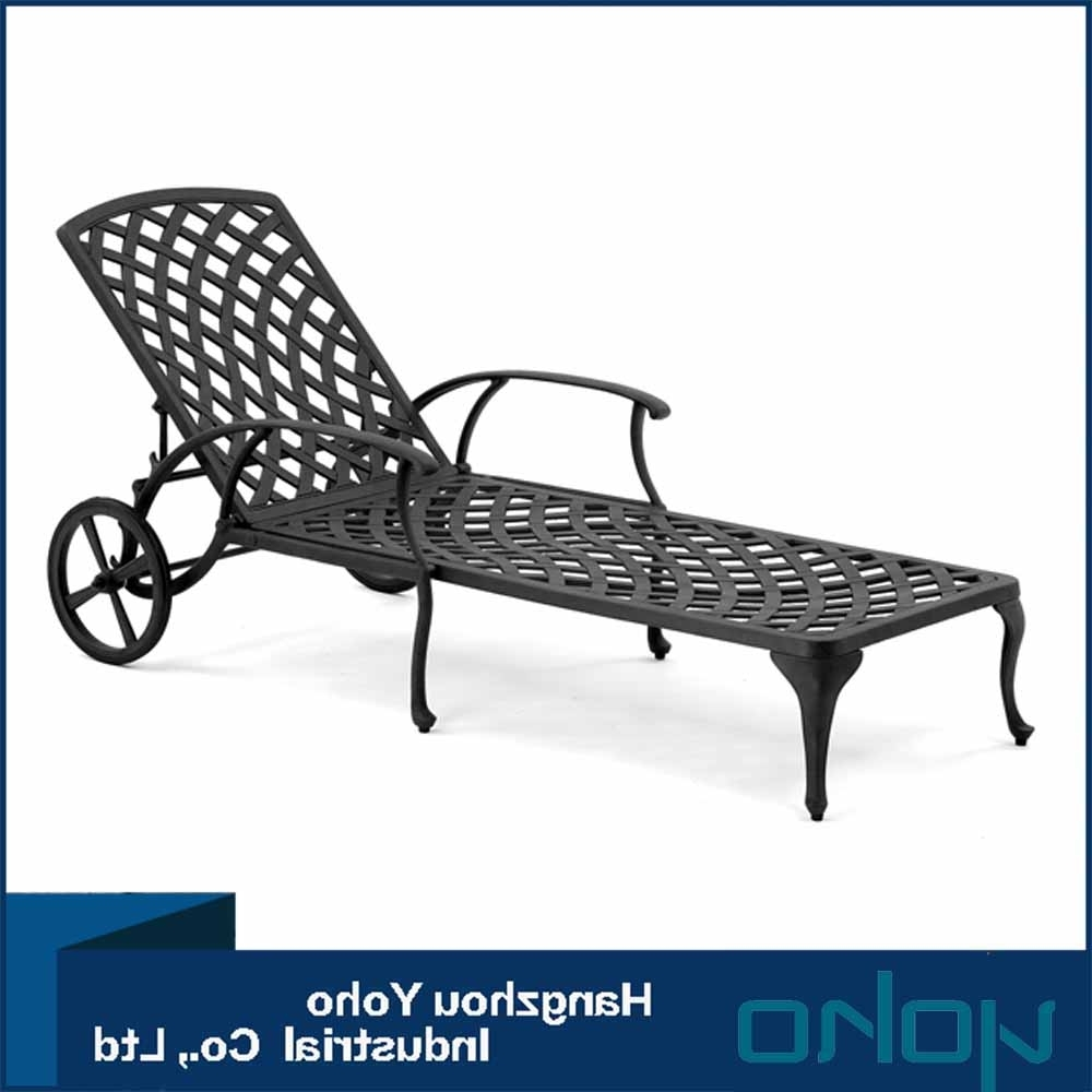 Cast Aluminum Chaise Lounges With Wheels Inside Well Liked Cast Aluminium Sun Lounger, Cast Aluminium Sun Lounger Suppliers (View 4 of 15)