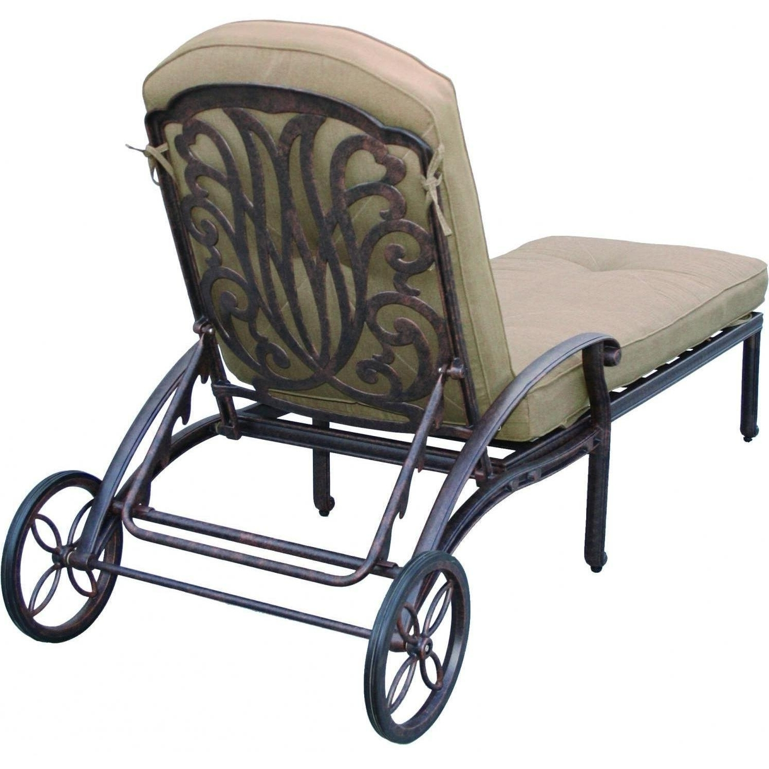 Cast Aluminum Chaise Lounges With Wheels With Regard To Most Up To Date Darlee Elisabeth Cast Aluminum Patio Chaise Lounge : Ultimate Patio (View 11 of 15)