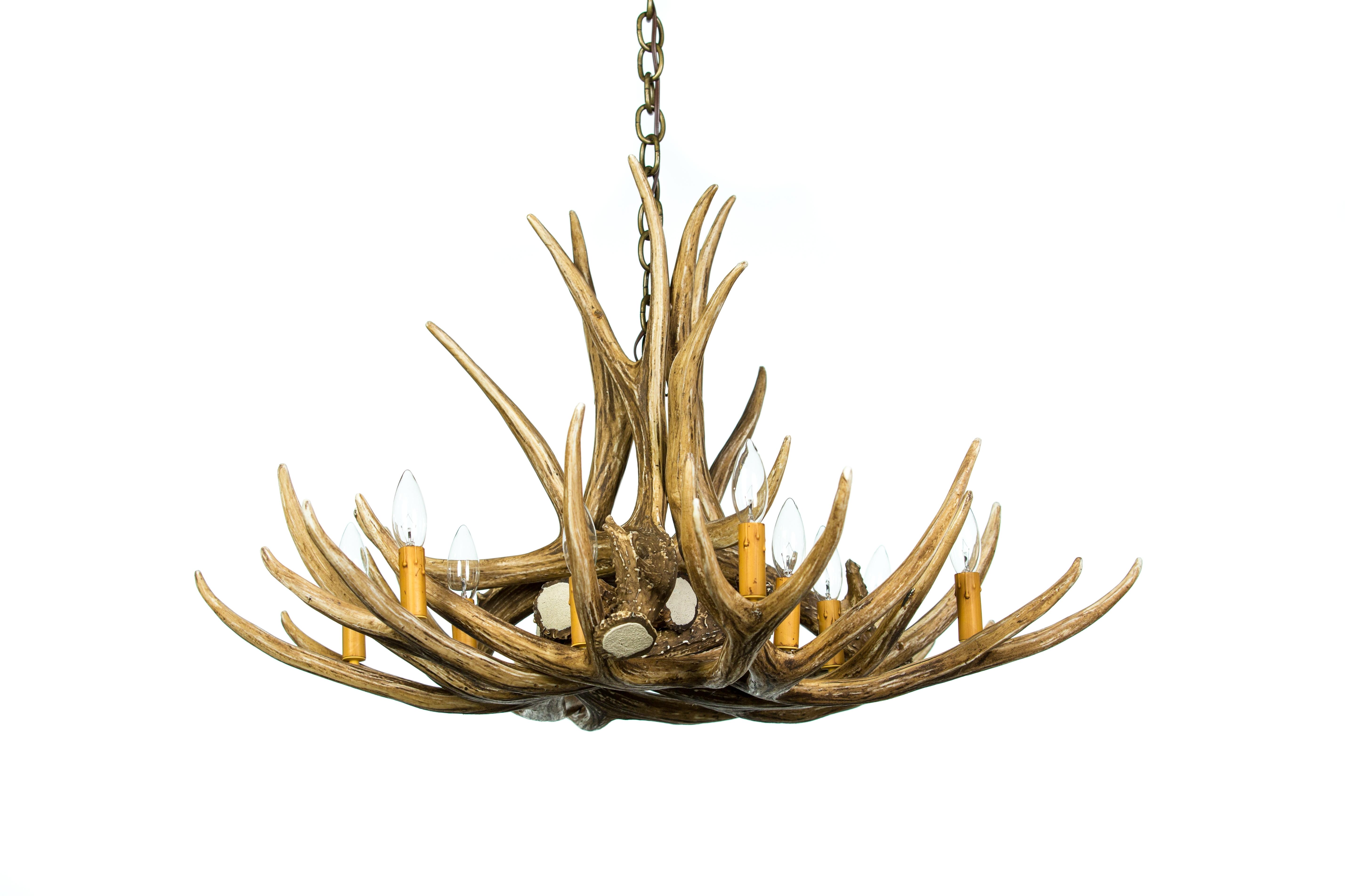 Cast Horn Designs Regarding Antlers Chandeliers (View 2 of 15)