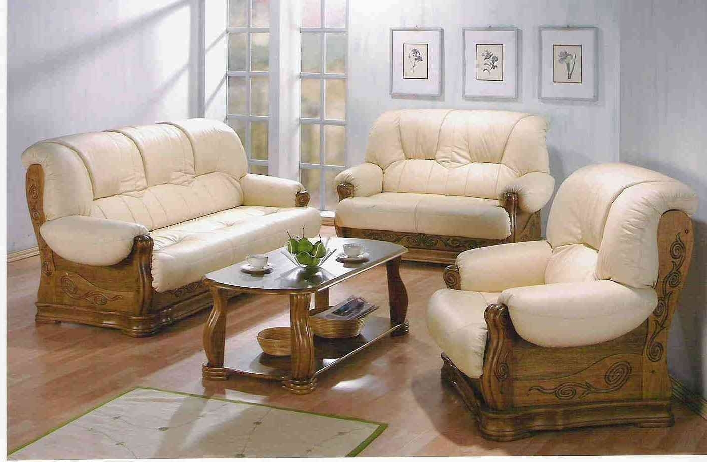 Casual Sofas And Chairs Throughout Most Current Chairs : Traditional Wooden Sofa Set Designs Couch Traditional (View 5 of 15)