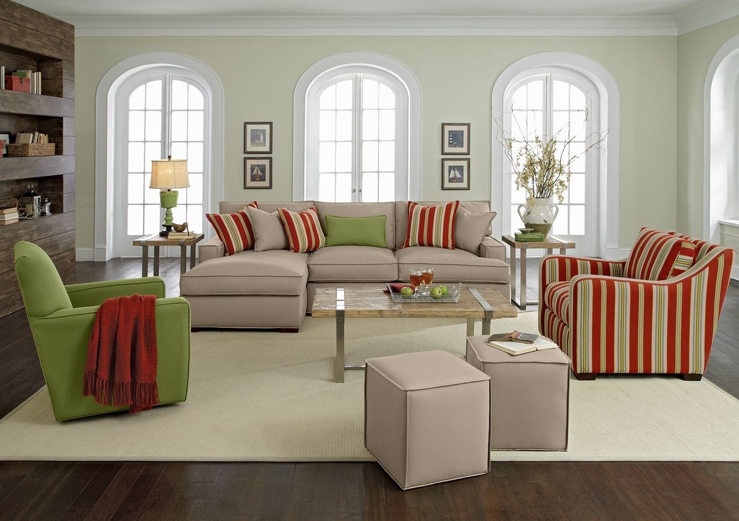 Featured Photo of Striped Sofas And Chairs