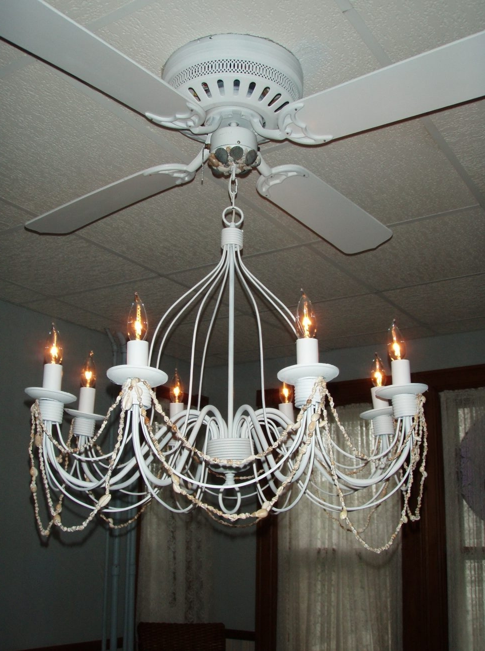 Ceiling Fans : Excellent Ceiling Fan Chandelier Elegant Fans With Regarding Fashionable Chandelier Light Fixture For Ceiling Fan (View 2 of 15)