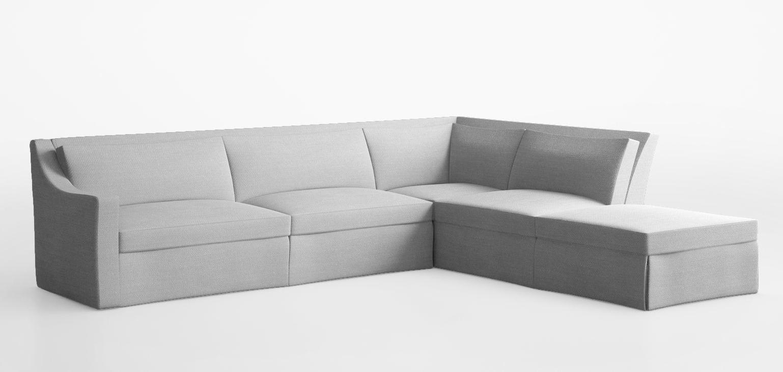 Cgtrader Pertaining To Modular Corner Sofas (View 3 of 15)
