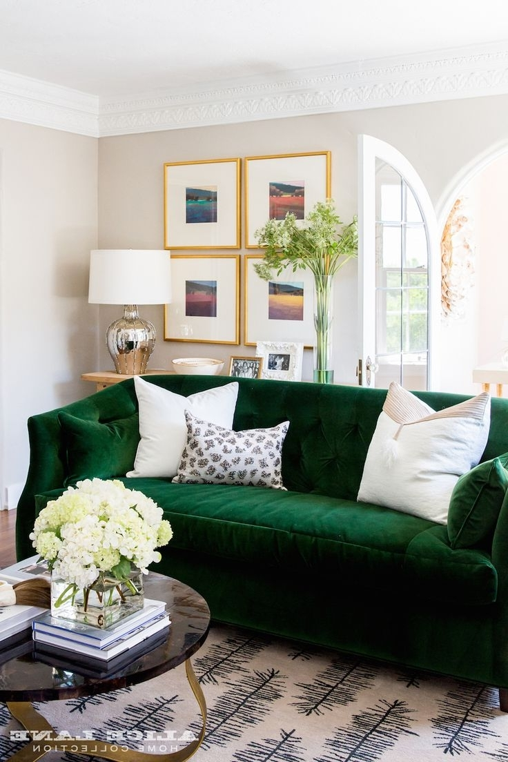 Chairs : Green Sofa Chairs Arresting Green Leather Sofa And Chairs With Well Known Green Sofa Chairs (View 2 of 15)