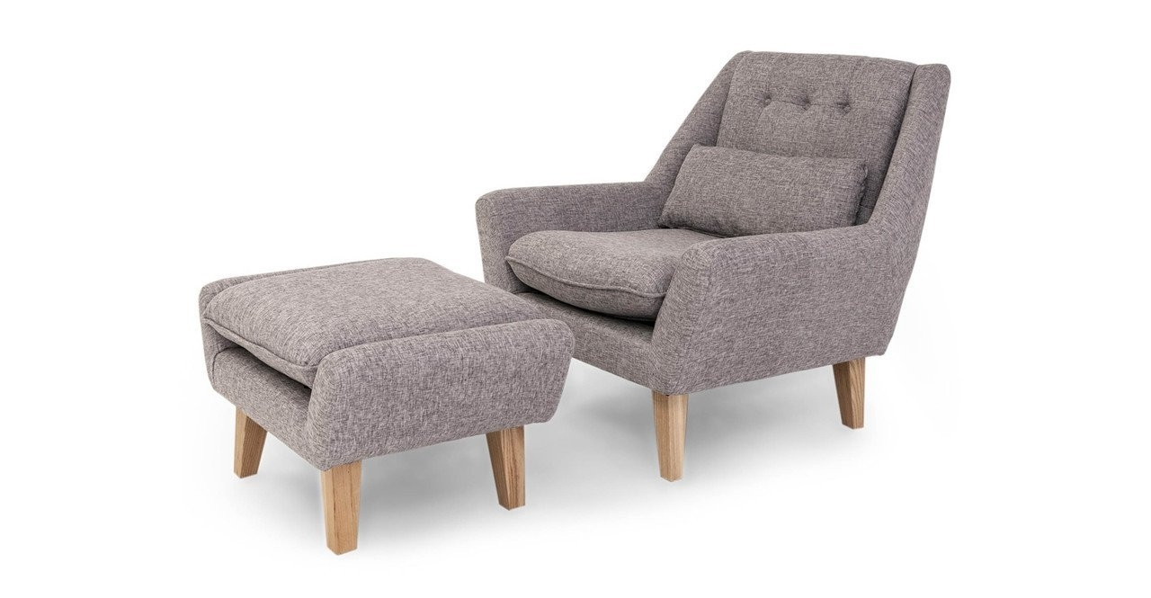 Chairs With Ottoman Inside Most Up To Date Amazon: Kardiel Stuart Mid Century Modern Lounge Chair (View 5 of 15)