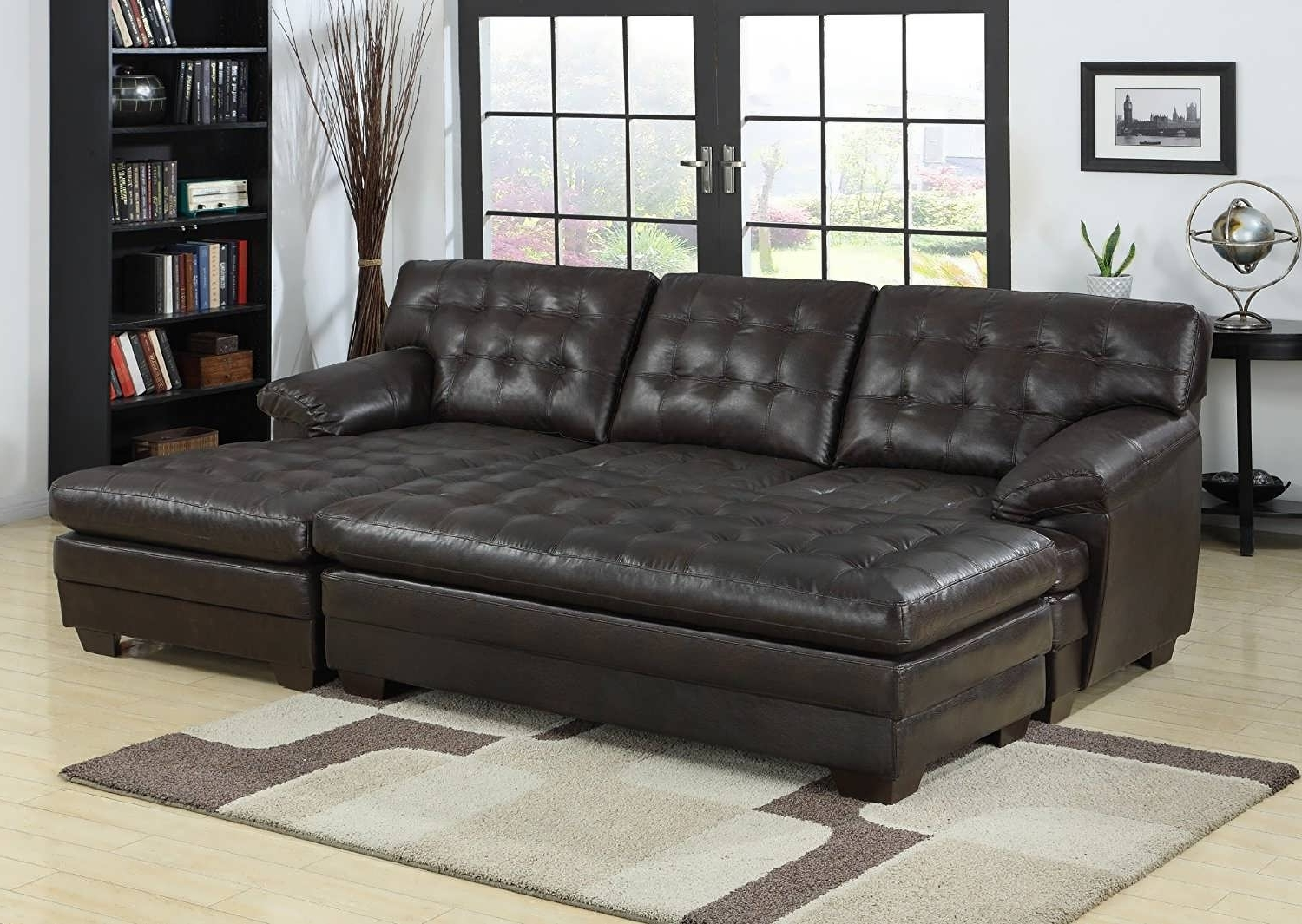 Chaise Couch Lounges Regarding Favorite Sofa : U Shaped Sectional Sofa Sectional Sofa With Chaise Grey (View 4 of 15)