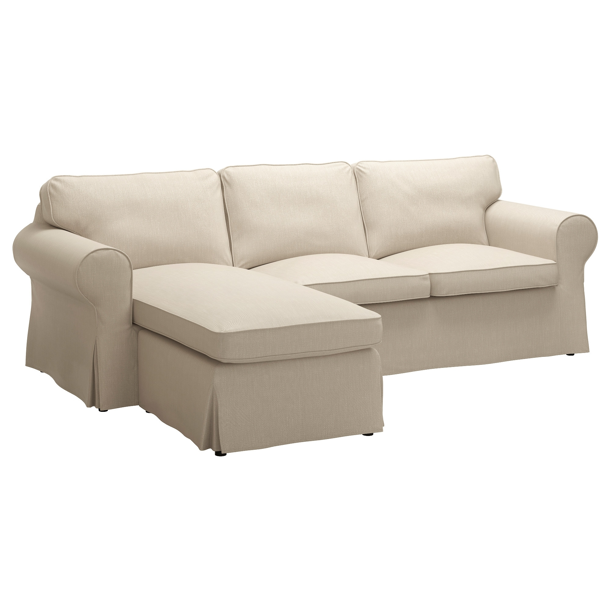 Chaise Couches Inside 2018 Ektorp Sofa – With Chaise/nordvalla Light Blue – Ikea (View 2 of 15)