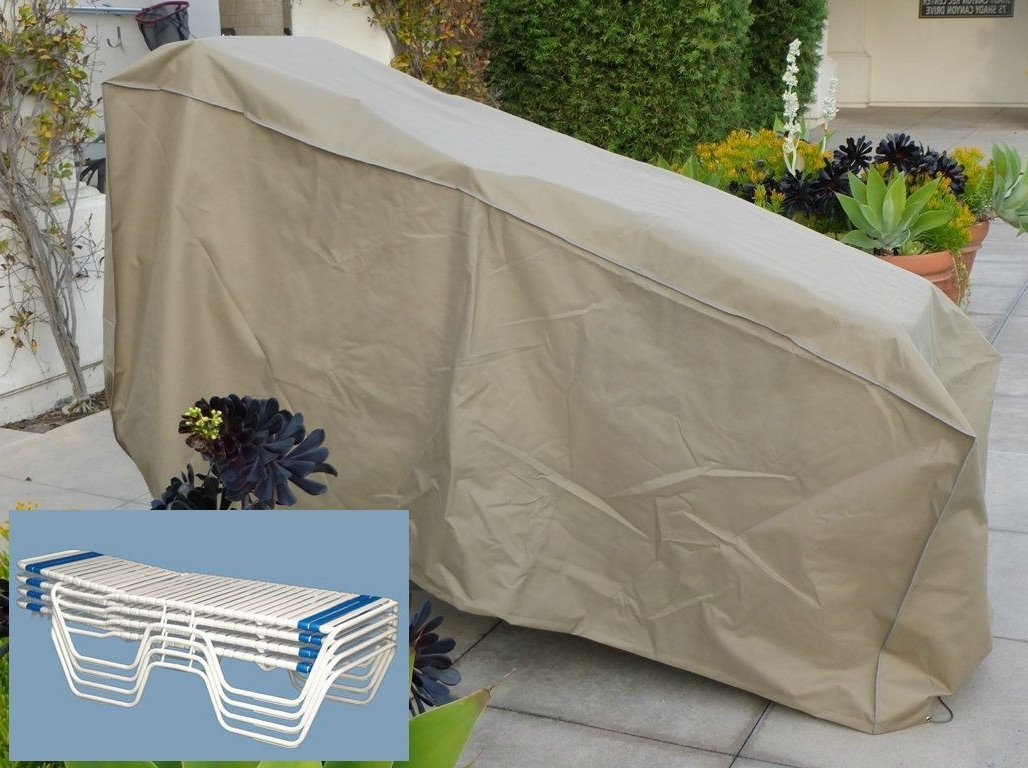 Chaise Covers Pertaining To Popular Tight Weave Stacking Chaise Lounge Chair Cover Fit 4 8 Chairs (View 10 of 15)