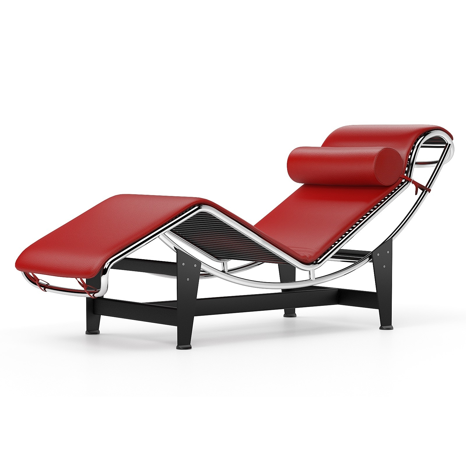 Chaise Longue Le Corbusier Lc4 Chaise Longue Red Throughout Most Up To Date Corbusier Chaises (View 3 of 15)