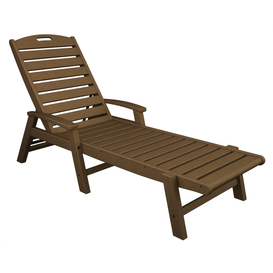 Chaise Lounge Chairs At Lowes Within Latest Shop Trex Outdoor Furniture Yacht Club Tree House Plastic Patio (View 7 of 15)