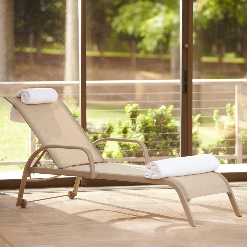 Chaise Lounge Chairs For Sunroom In Famous Wheels – Patio Furniture – Outdoors – The Home Depot (View 3 of 15)