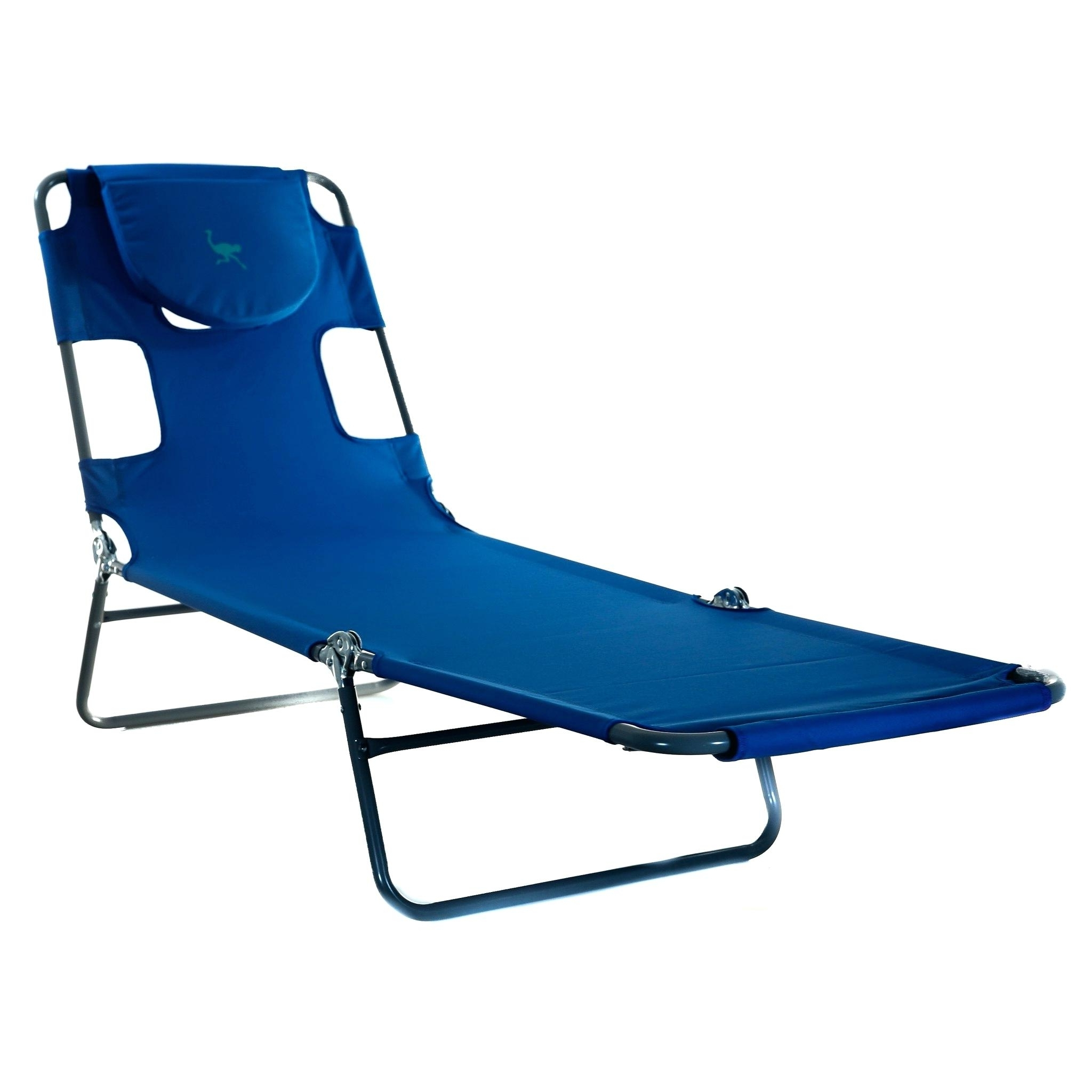 Chaise Lounge Chairs With Face Hole With Popular Folding Chaise – Kattenbroek (View 7 of 15)
