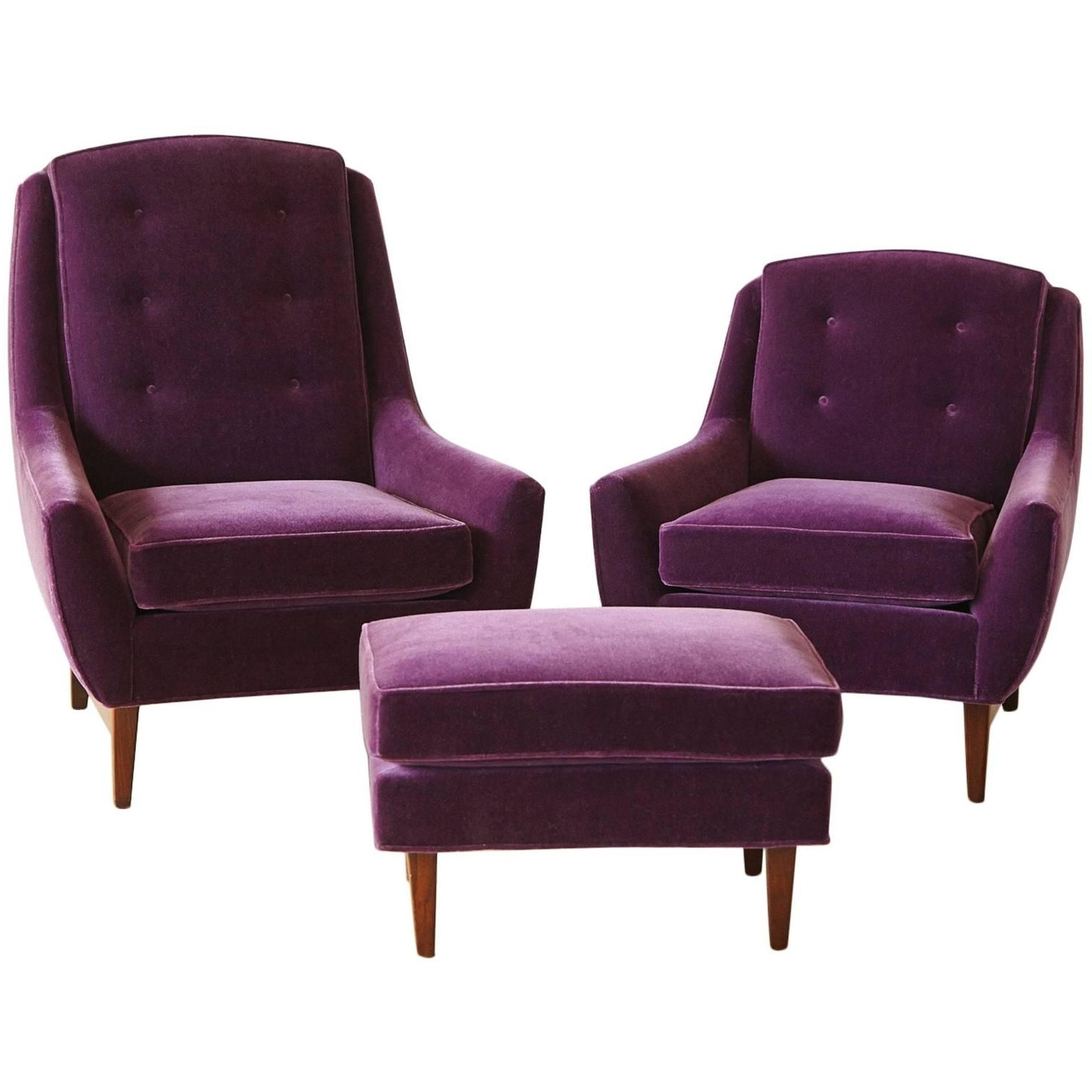 Chaise Lounge Chairs With Ottoman Inside Most Current Convertible Chair : Chairs Living Room Purple Chaise Lounge Sale (View 4 of 15)