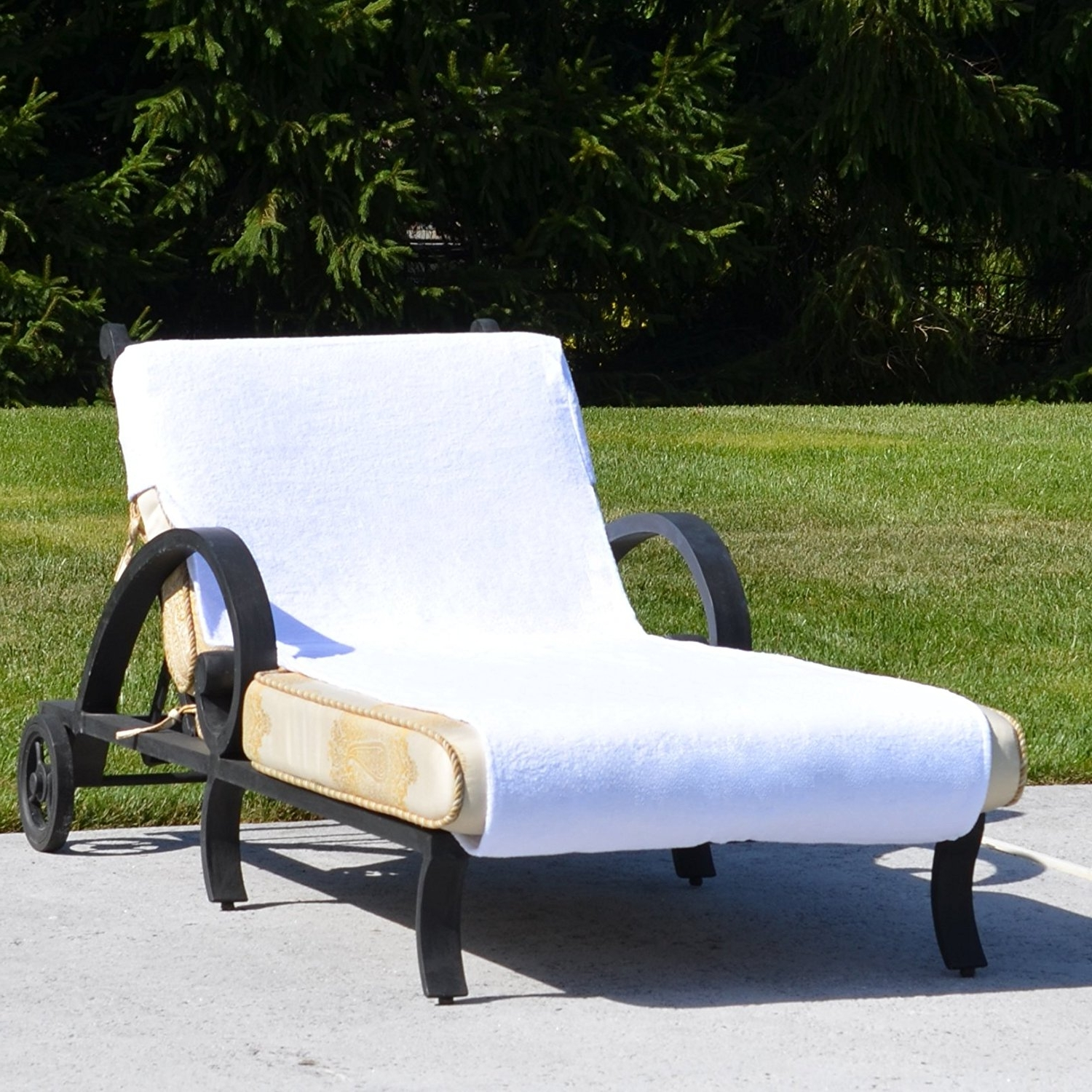 Chaise Lounge Covers With Regard To Most Popular Amazon : Linum Home Textiles Cl00 Snp Standard Size Chaise (View 4 of 15)