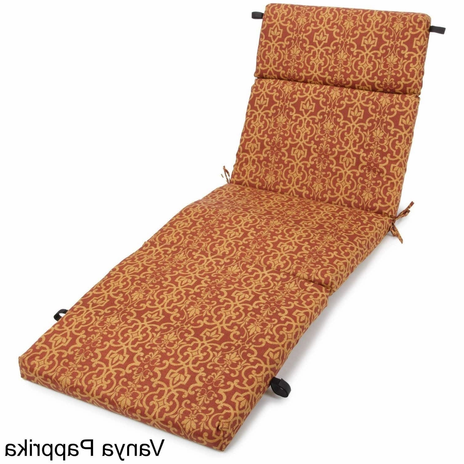 Chaise Lounge Cushions Within Most Recently Released Outdoor Chaise Lounge Cushion – Free Shipping Today – Overstock (View 14 of 15)