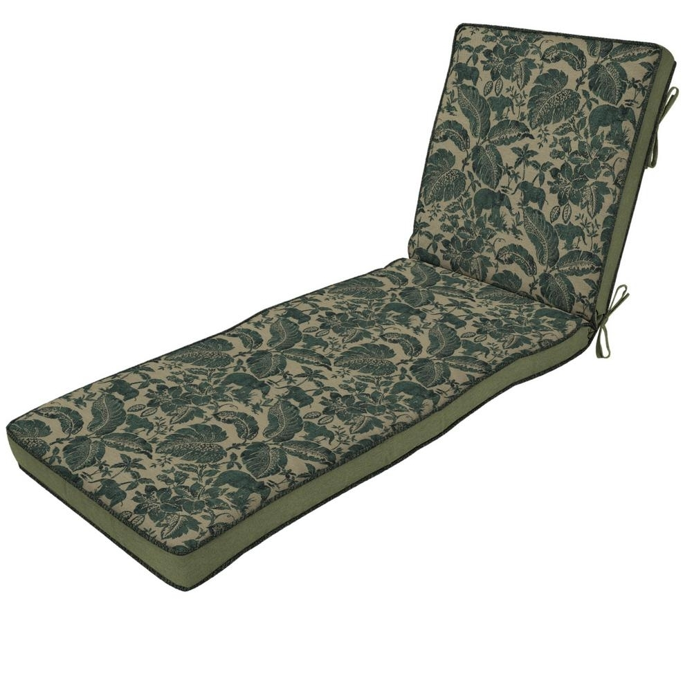 Chaise Lounge Outdoor Cushions For Preferred Chaise Lounge Cushions – Outdoor Cushions – The Home Depot (View 12 of 15)