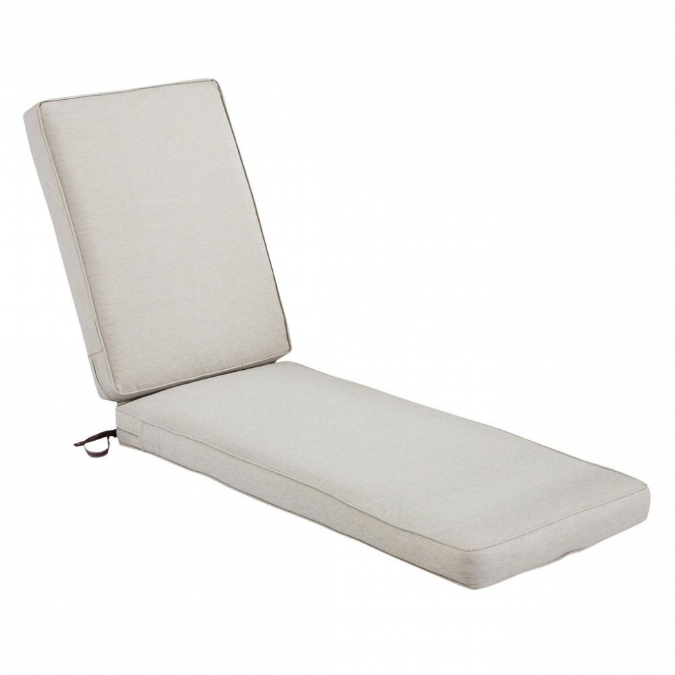 Chaise Lounge Pads In Well Known Outdoor: Bombay Outdoors Chaise Lounge Cushions Outdoor Cushions (View 5 of 15)