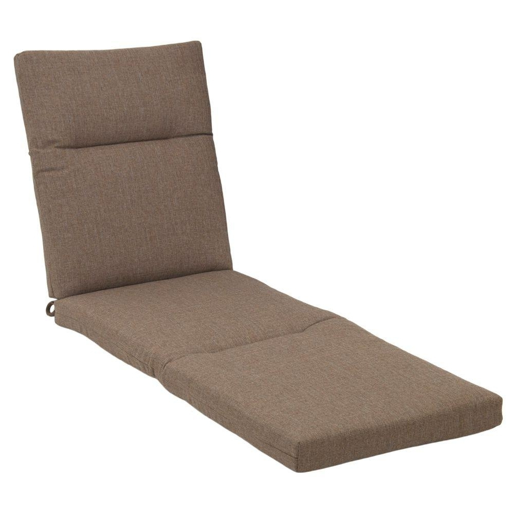 Chaise Lounge Pads With Most Popular Hampton Bay Saddle Rapid Dry Deluxe Outdoor Chaise Lounge Cushion (View 4 of 15)