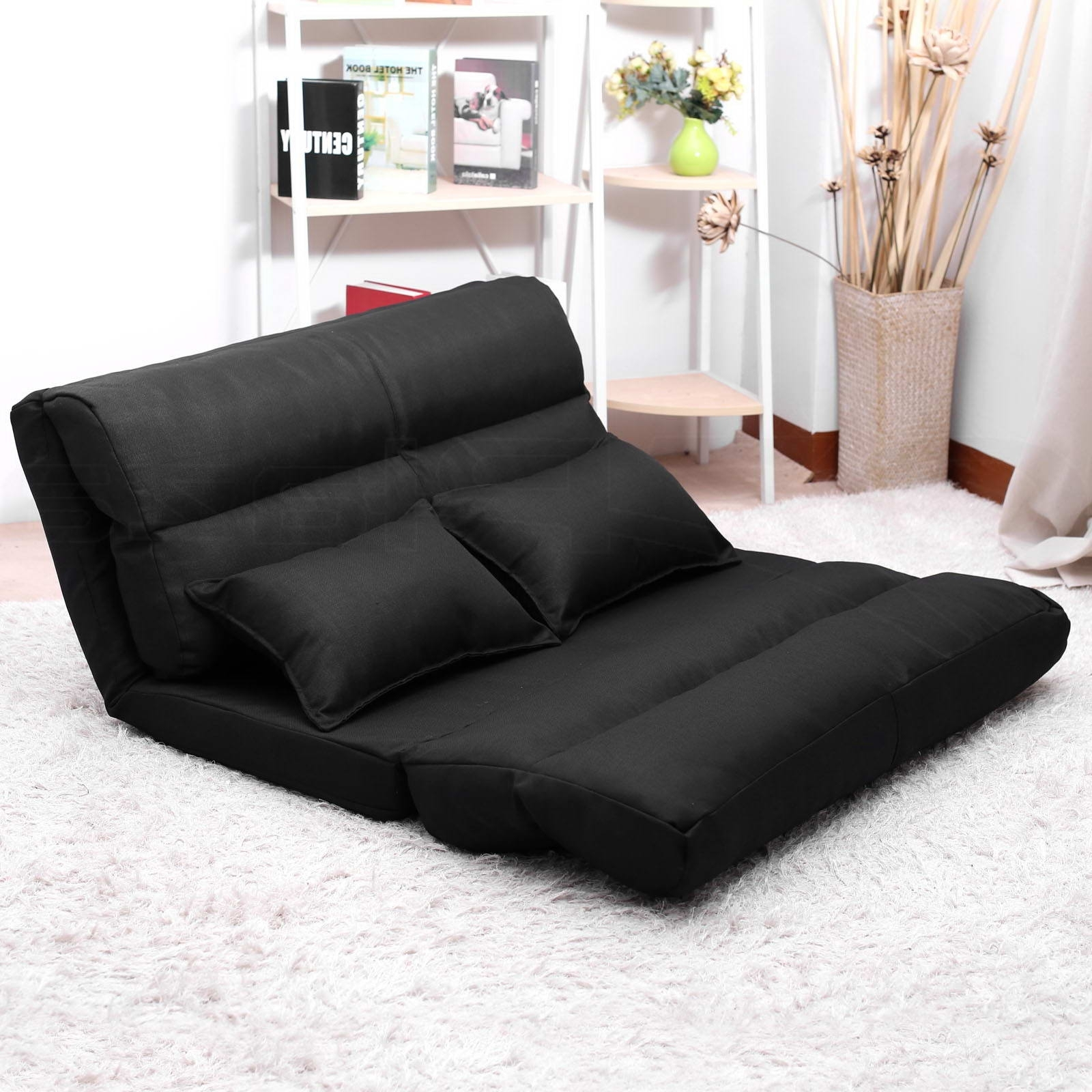 Chaise Lounge Sofa Beds With Regard To 2017 Lounge Sofa Bed Double Size Floor Recliner Folding Chaise Chair (View 6 of 15)