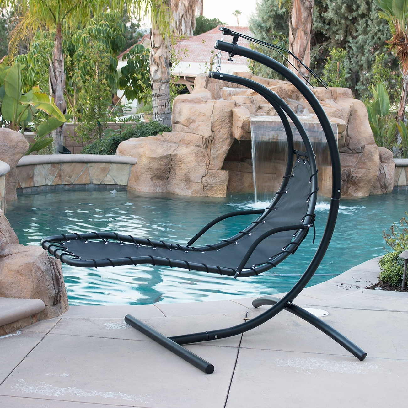 Chaise Lounge Swing Chairs For Most Recently Released Outdoor Swinging Lounge Chair • Lounge Chairs Ideas (View 1 of 15)