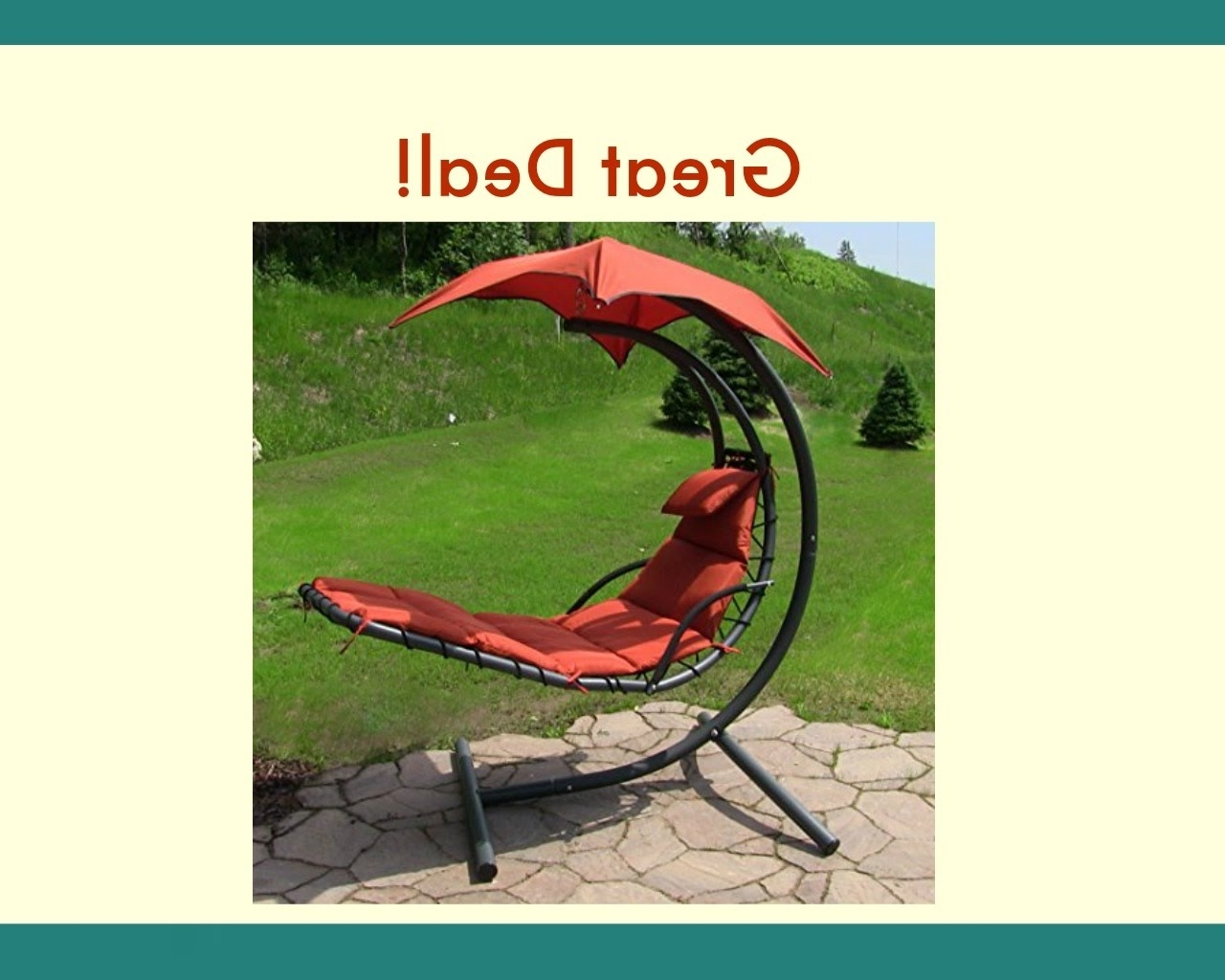 Chaise Lounge Swing Chairs Pertaining To Preferred Sunnydaze Floating Chaise Lounger Swing Chair With Canopy, 55 Inch (View 10 of 15)
