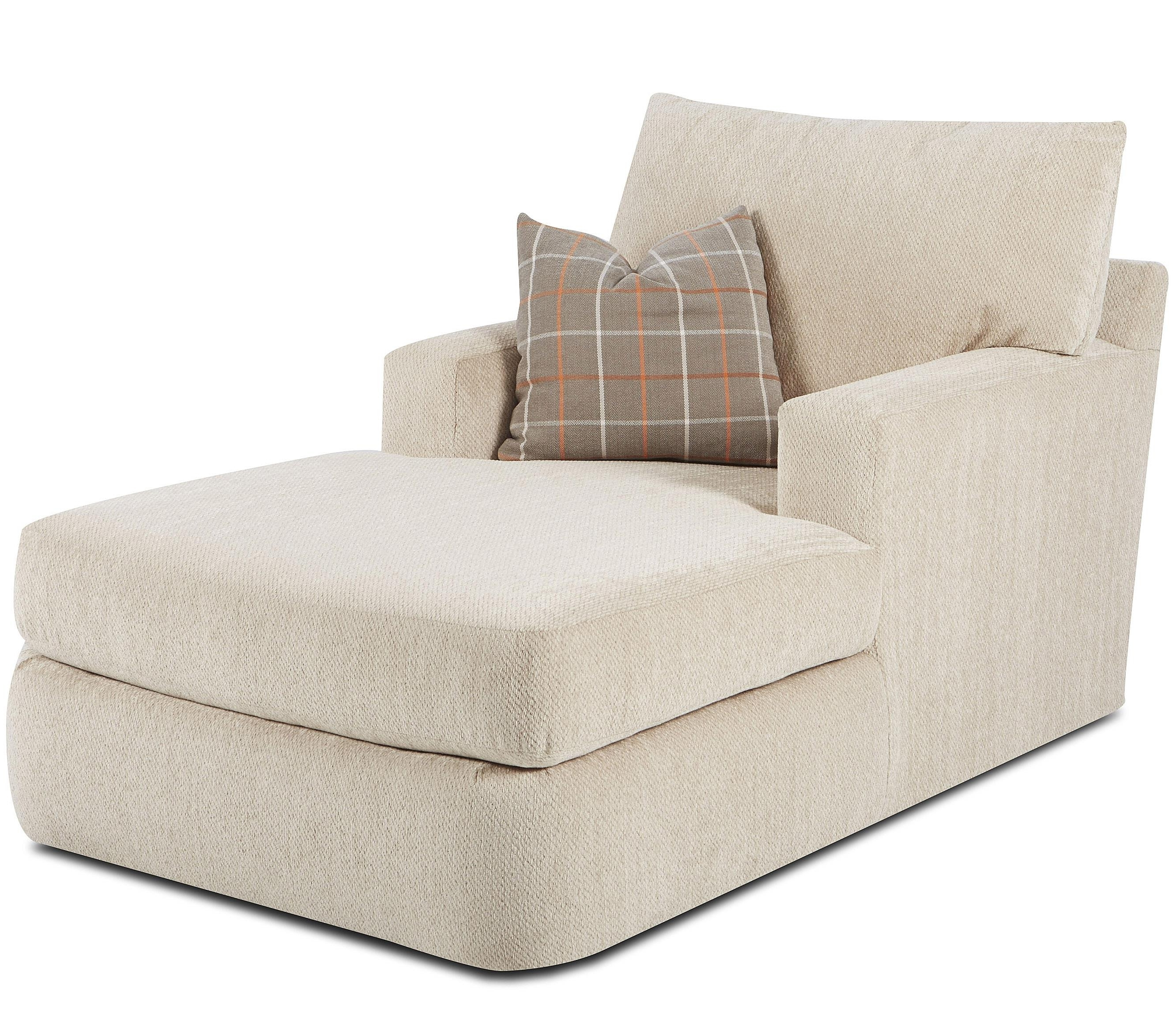 Chaise Lounges With Arms Throughout Current Klaussner Oliver Contemporary Track Arm Chaise (View 6 of 15)