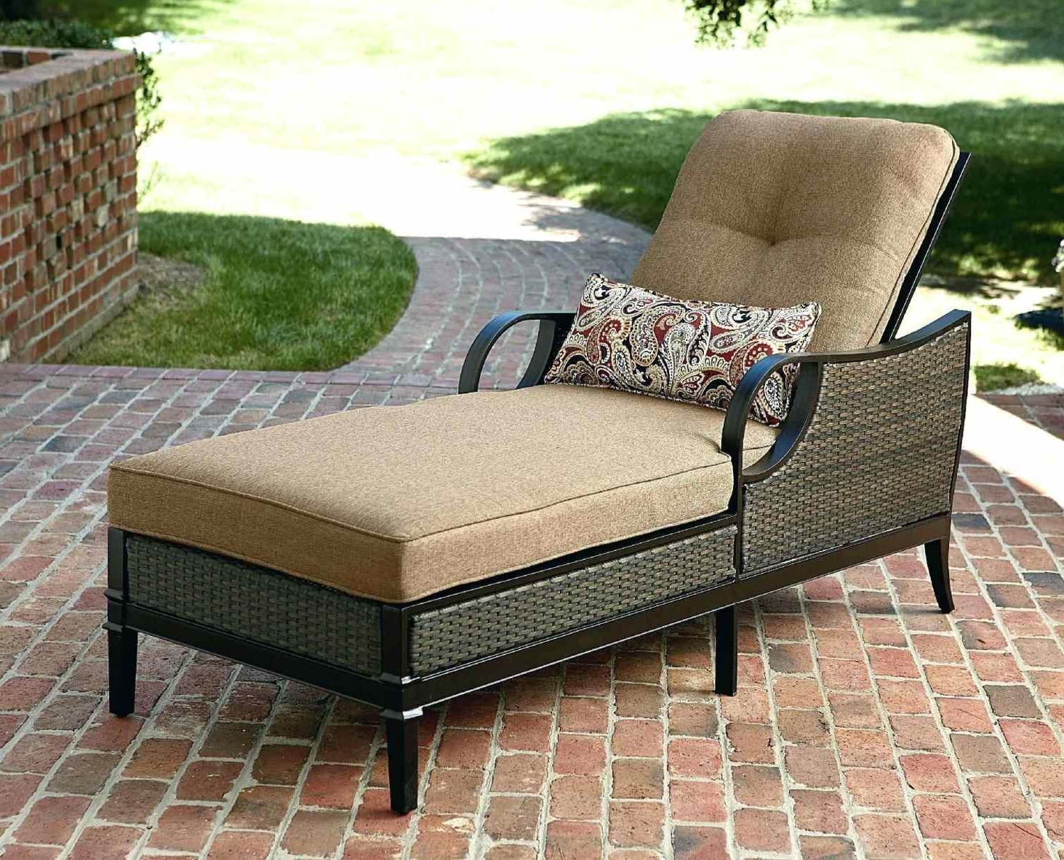 Chaise Outdoor Lounge Chairs Within Most Up To Date Lounge Chair : Cushion Sets Wicker Furniture Chaise Lowes S Wicker (View 7 of 15)
