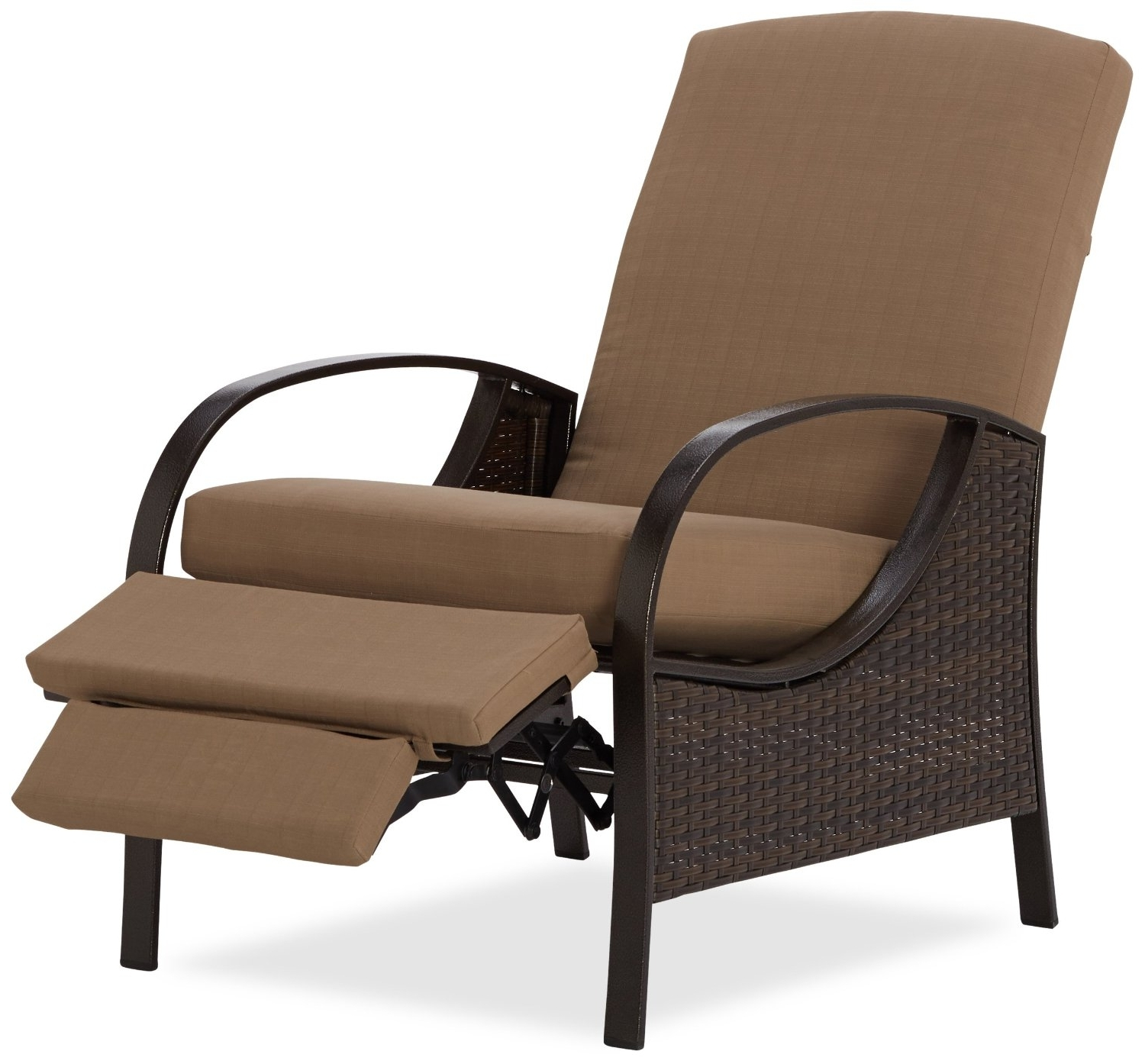 Chaise Recliner Chairs With Current Convertible Chair : Tall Patio Chairs Reclining Garden Furniture (View 3 of 15)