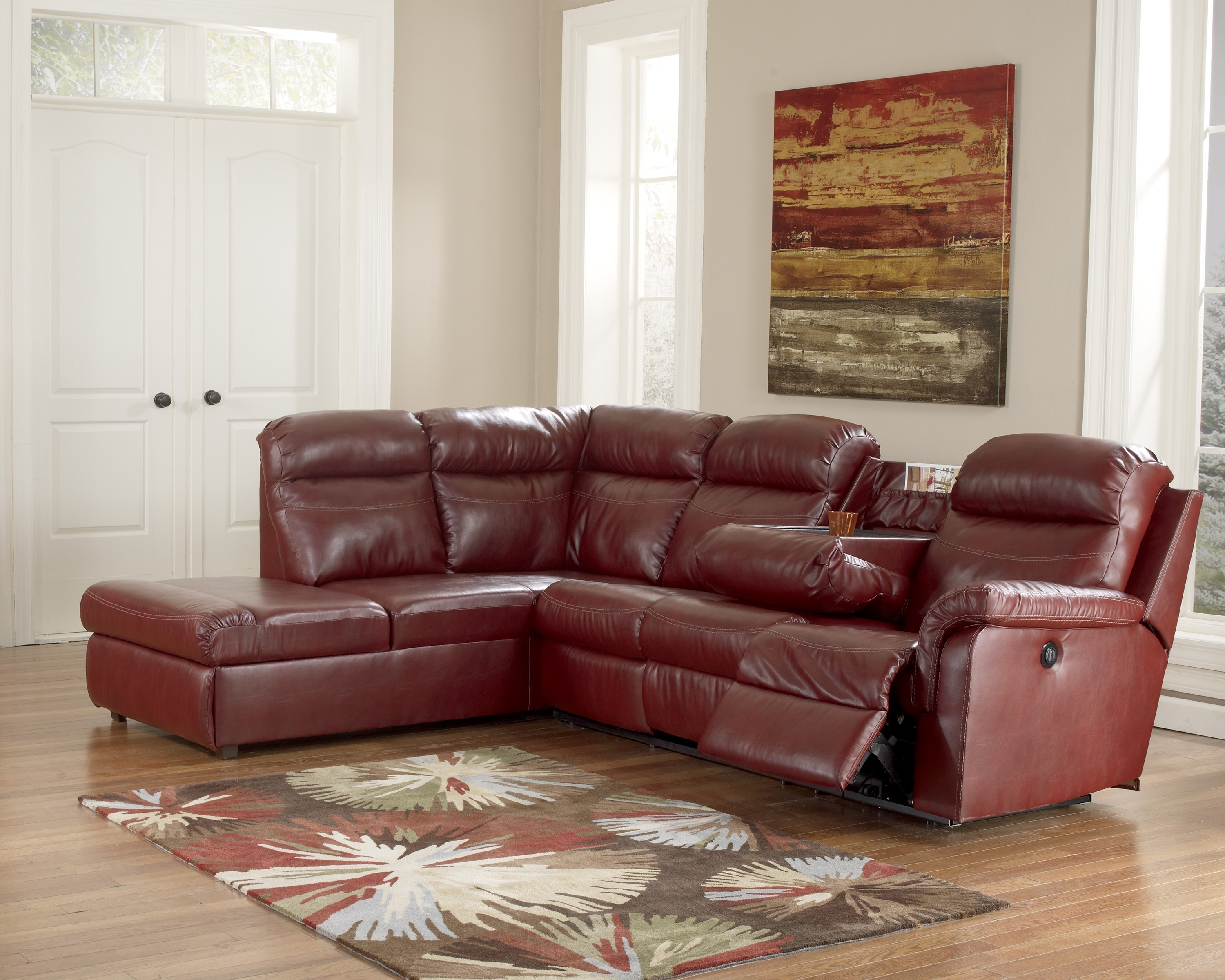 Chaise Recliner Chairs Within Famous Beautiful Leather Sectional With Chaise And Recliner Gallery (View 4 of 15)