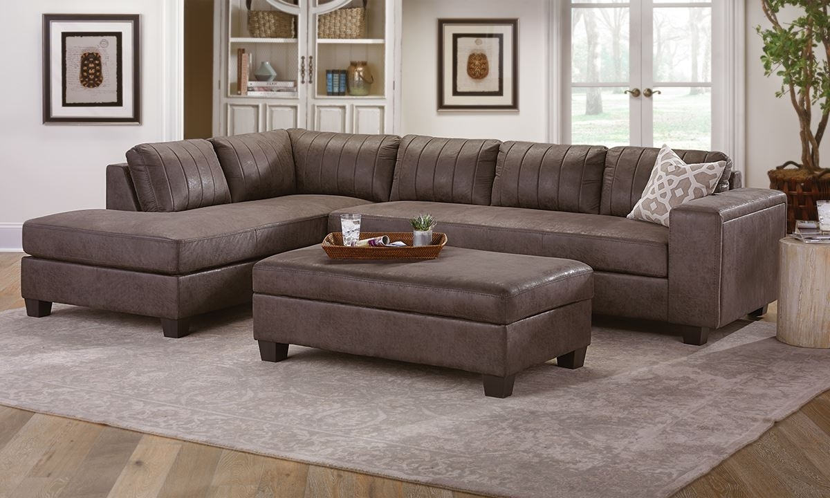 Chaise Sectional With Storage Ottoman (View 6 of 15)