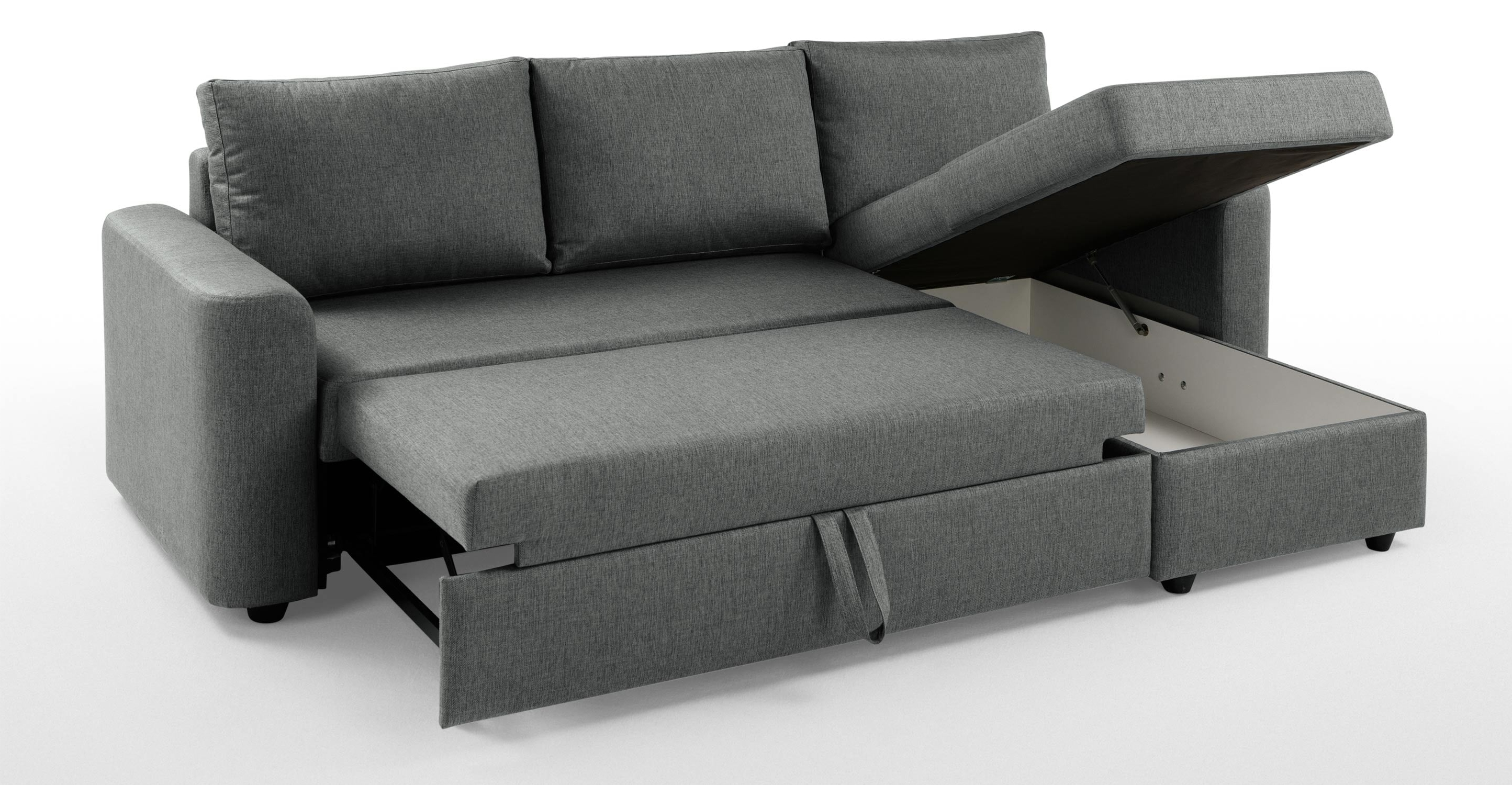 Chaise Sofa Bed With Storage – Storage Designs Within Popular Sofa Beds With Chaise (View 15 of 15)