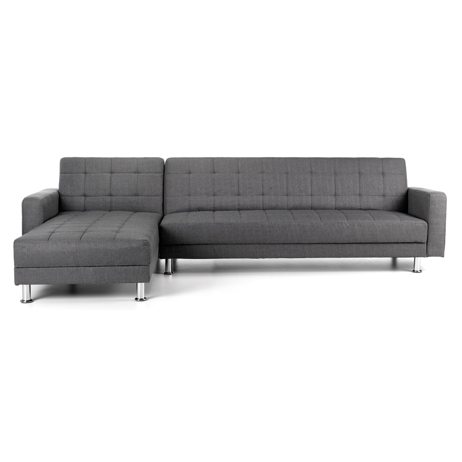 Chaise Sofa Beds Throughout Newest Spencer Fabric Corner Chaise Sofa Bed – Next Day Delivery Spencer (View 12 of 15)