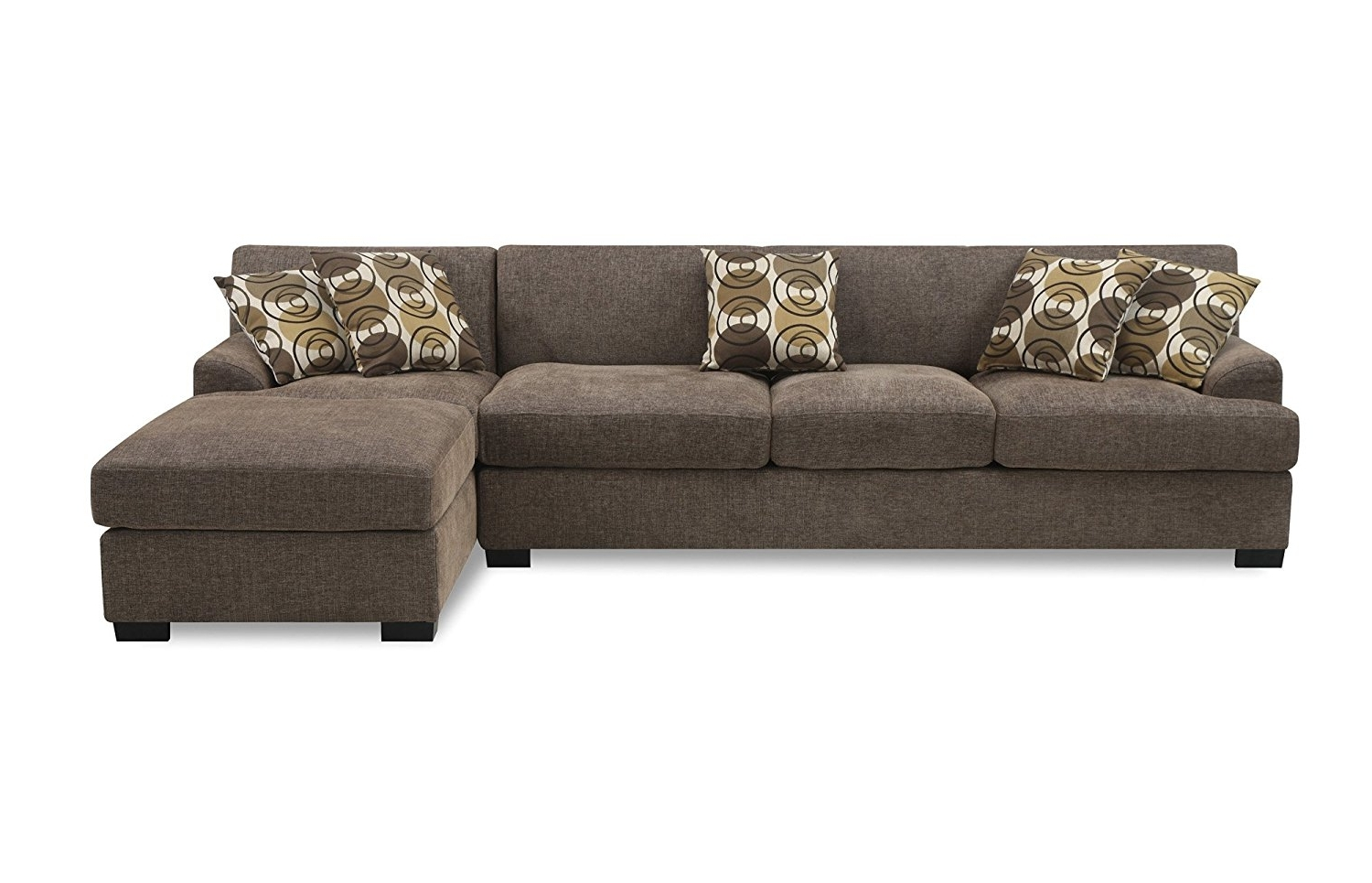 Chaise Sofas Inside Famous Amazon: Bobkona Poundex Benford Collection Faux Linen Chaise (View 6 of 15)