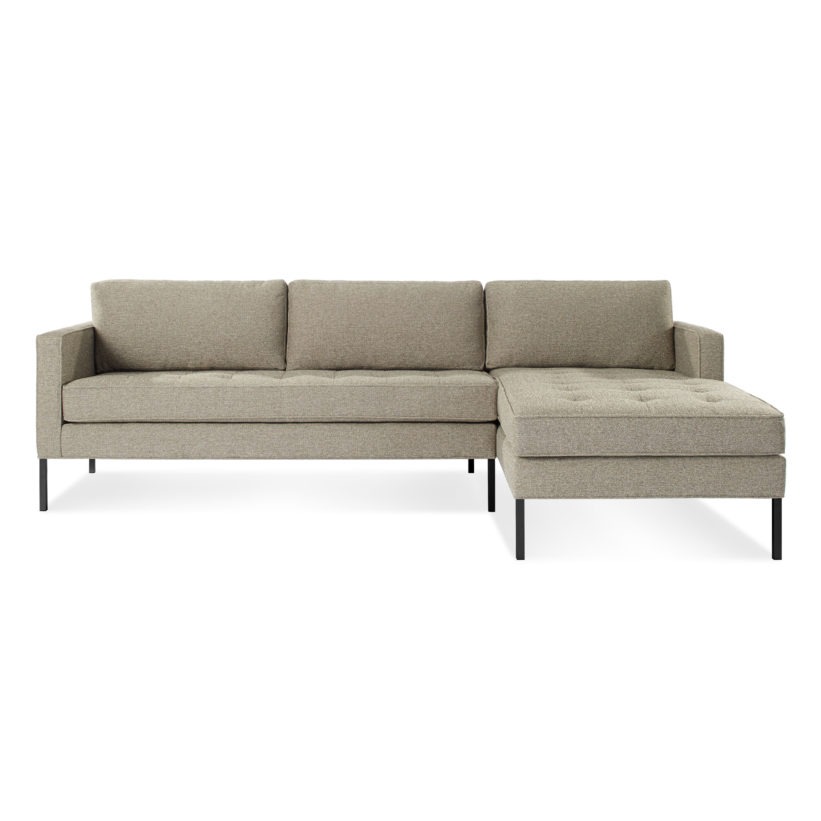 Chaise Sofas Intended For Most Current Paramount Modern Chaise Sofa With Left Chaise (View 7 of 15)