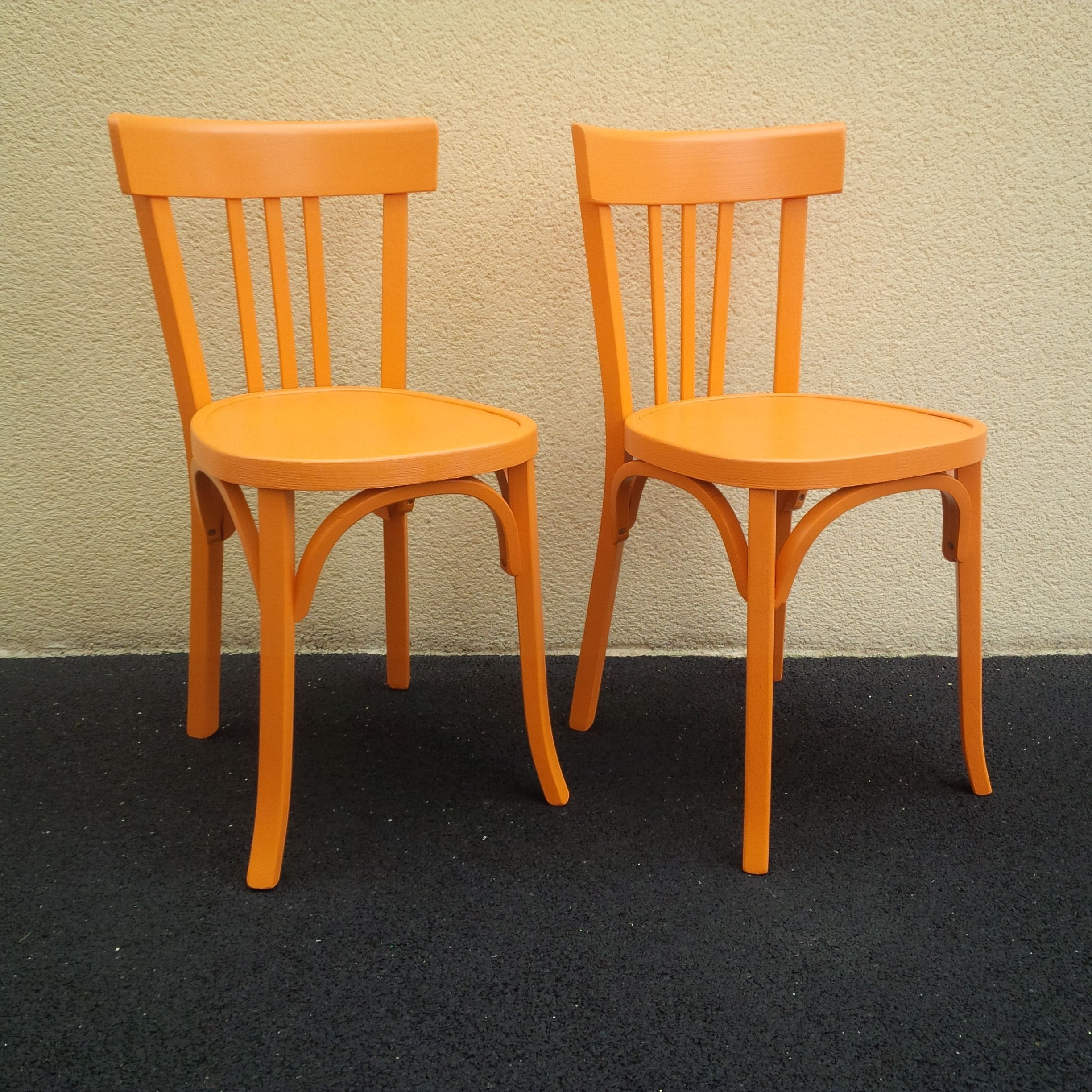 Chaises Baumann Bistrot Orangeade #chaise #baumann #bistrot For Well Known Orange Chaises (View 4 of 15)