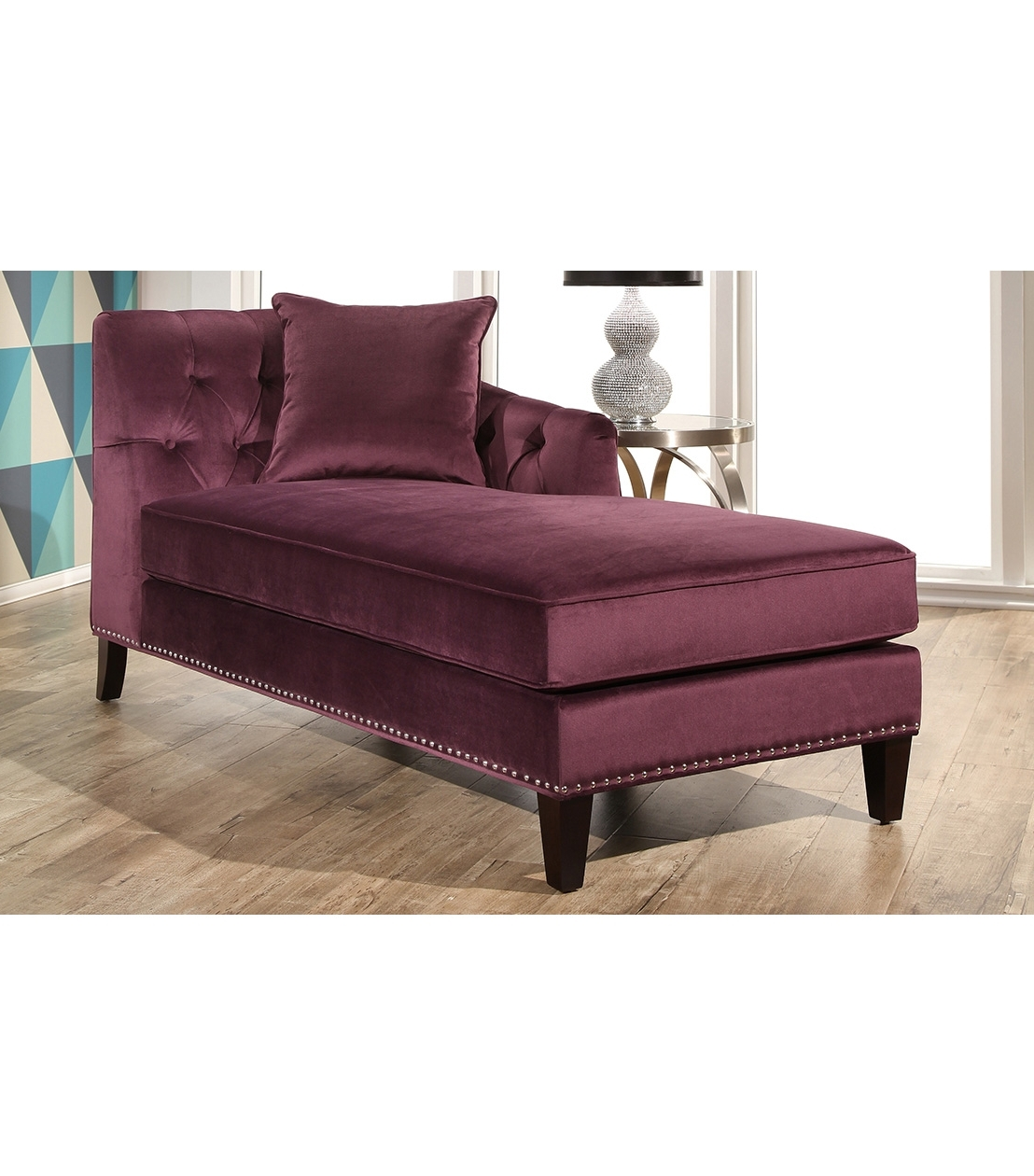 Chaises : Margot Velvet Chaise, Purple With Most Recent Purple Chaises (View 15 of 15)