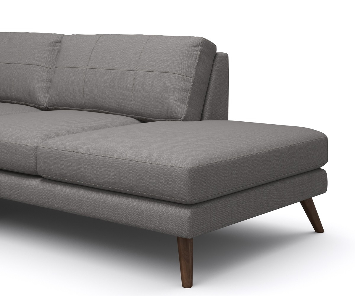Chaises With Arms Within Well Known Dane One Arm Sofa With Chaise Sofa – Truemodern™ (View 10 of 15)