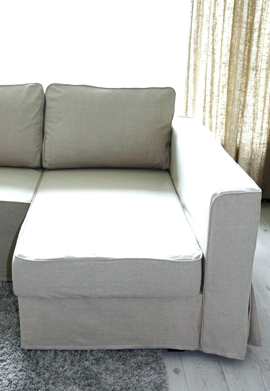 Chaises With Storage Regarding Current Chaise : Slipcovered Chaise Lounge Modern Slipcover Slipcovers For (View 9 of 15)