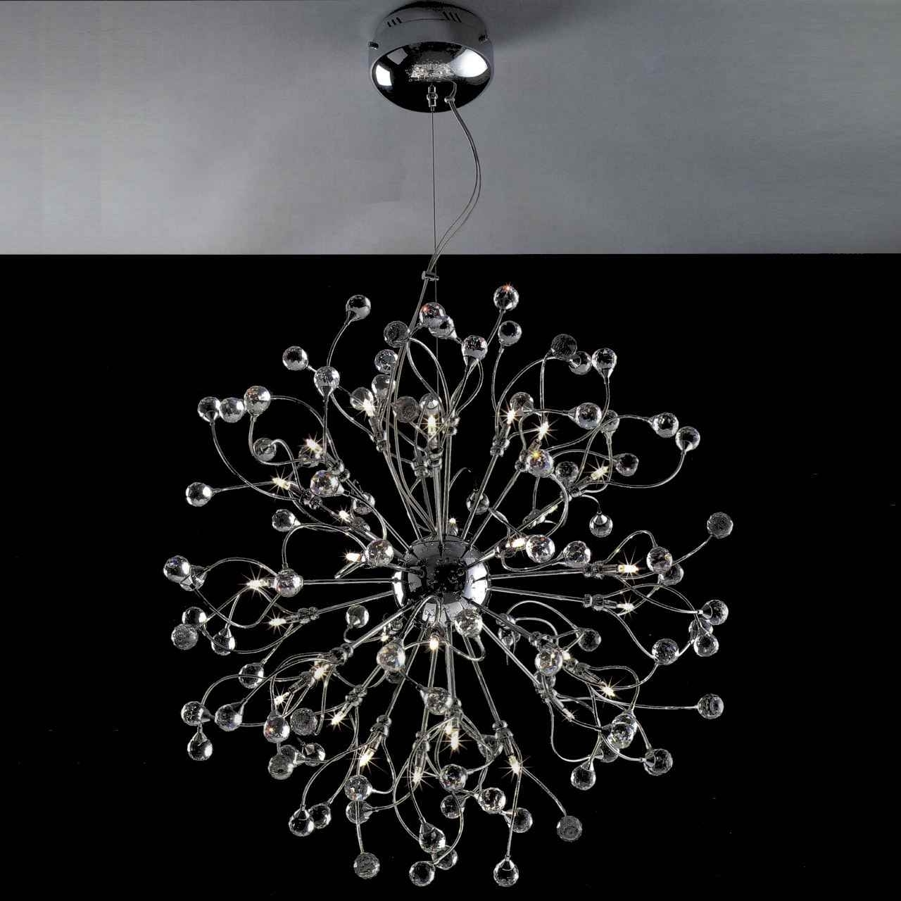 Chandelier Chrome Regarding Current Brizzo Lighting Stores (View 11 of 15)