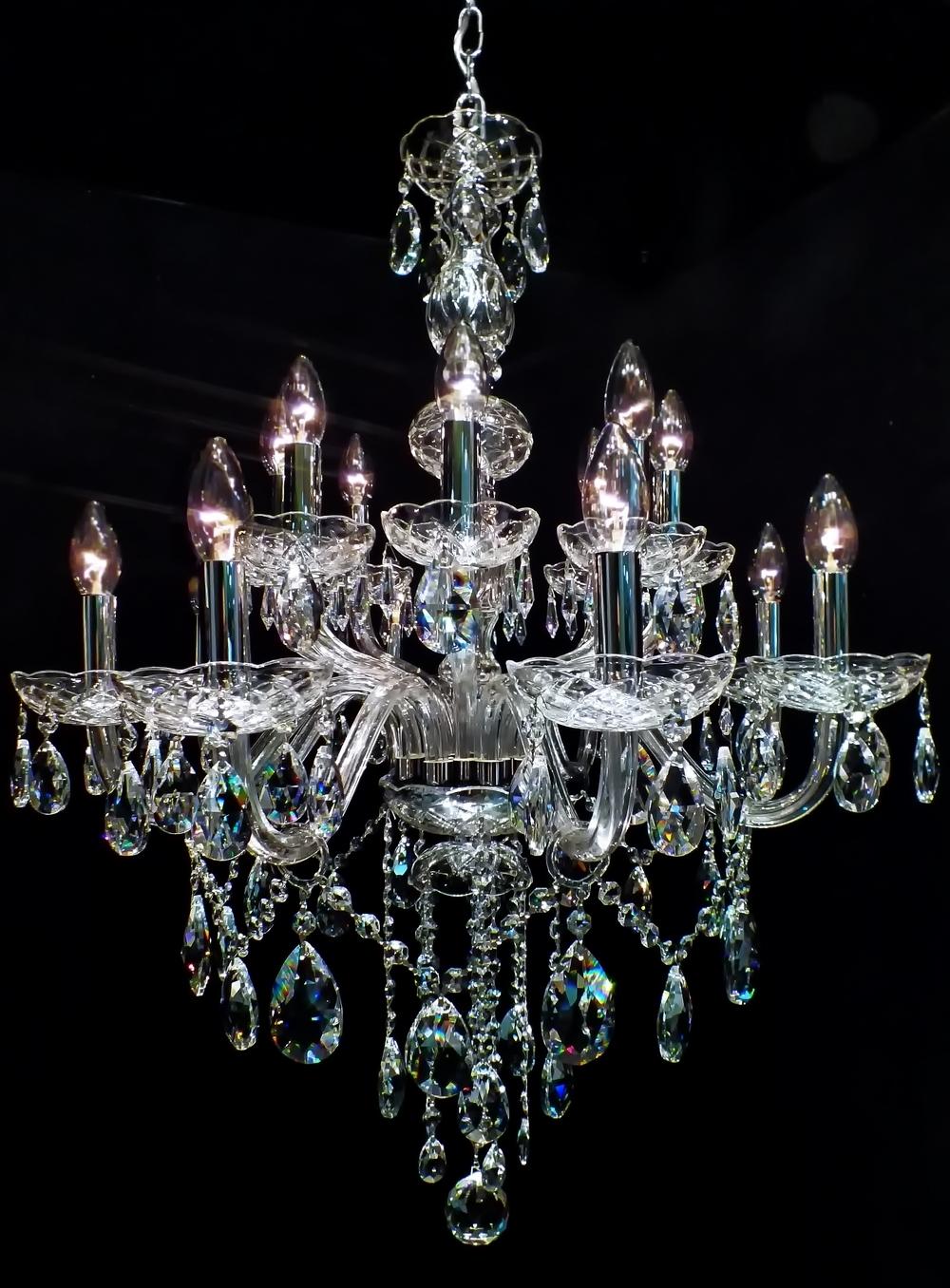 Chandelier #crystal Lustre Toledo 16 Braços (08 + 08) (View 6 of 15)