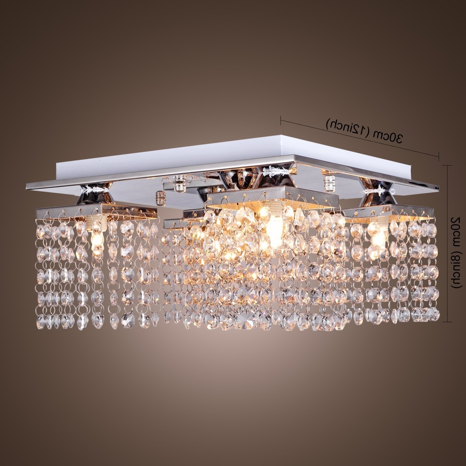 Chandelier For Low Ceiling With Regard To Best And Newest Modern Fashion Crystal Ceiling Lamp With 5 Lights Led Stainless (View 4 of 15)