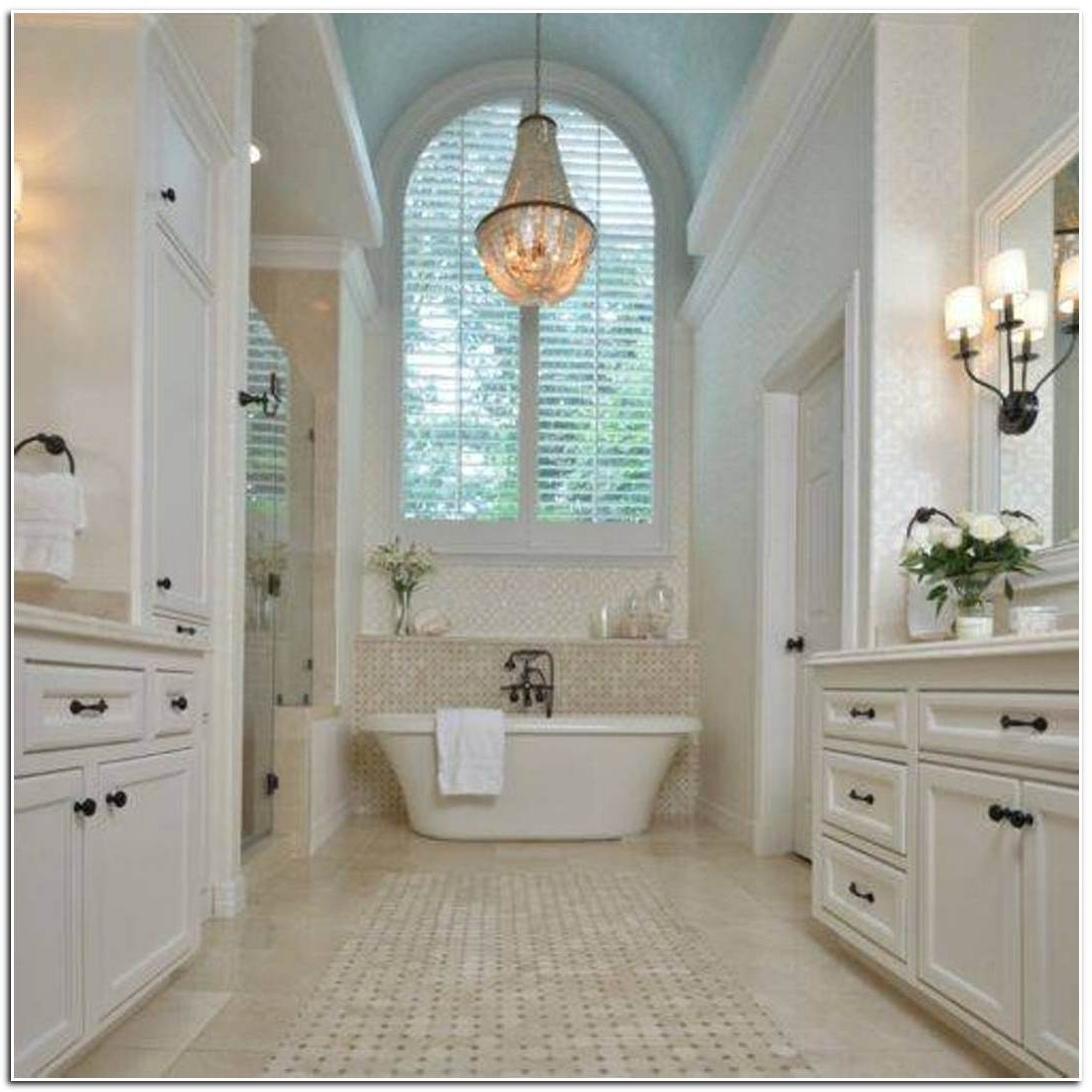Chandelier In The Bathroom In Favorite Attractive Bathroom Crystal Chandelier 1000 Ideas About Bathroom (View 5 of 15)