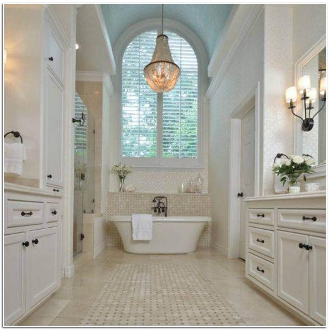 Chandelier In The Bathroom In Favorite Attractive Bathroom Crystal Chandelier 1000 Ideas About Bathroom (View 3 of 15)
