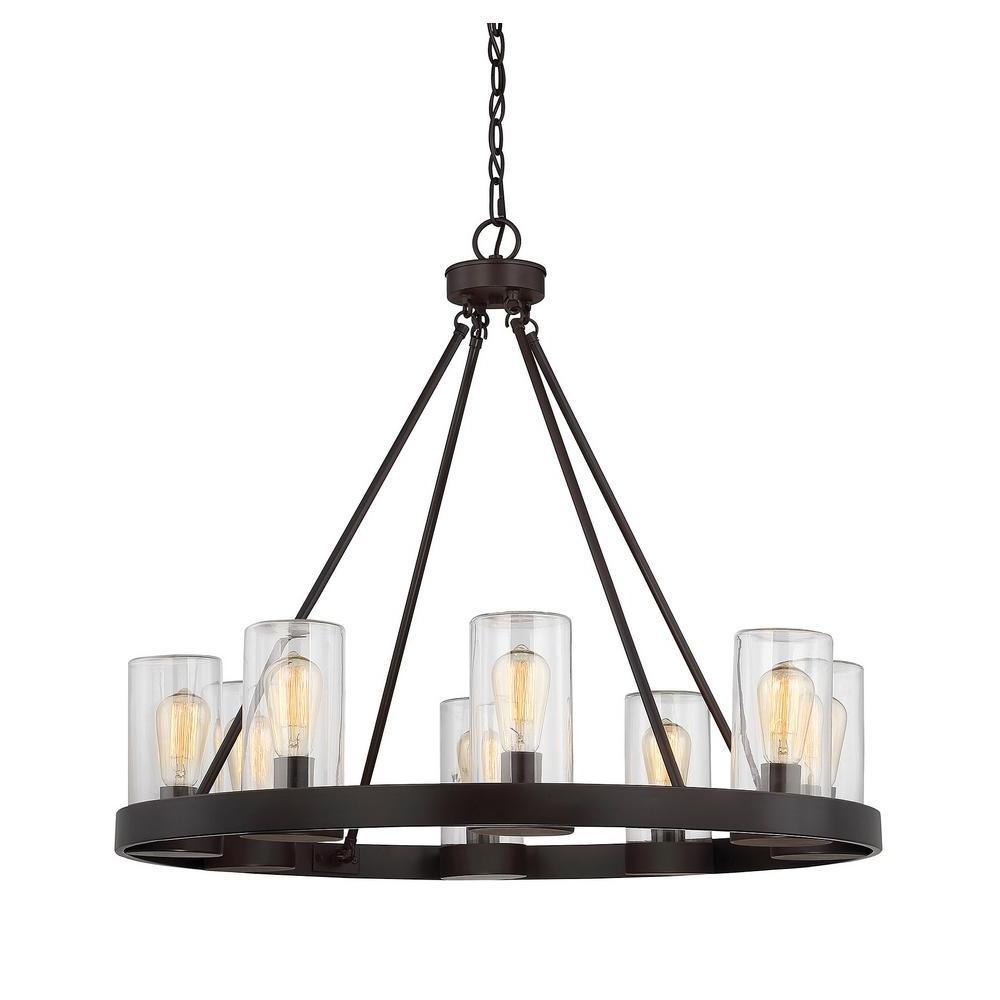 Chandelier Lights Regarding 2017 Filament Design 8 Light English Bronze Outdoor Hanging Chandelier (View 7 of 15)