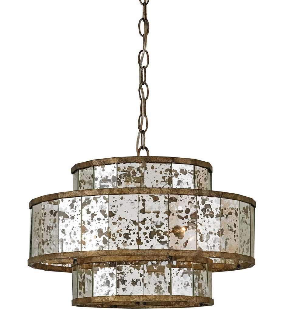 Chandelier Mirror Inside 2018 Currey & Company – 9759 – Fantine 5 Light Chandelier With Pyrite (View 13 of 15)