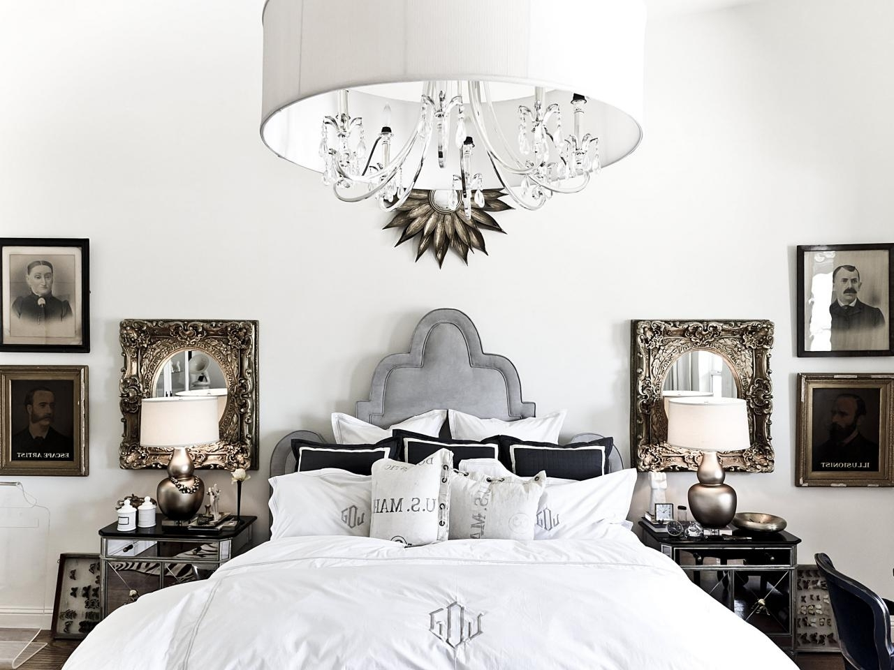 Chandelier Night Stand Lamps Pertaining To Newest Bedroom Chandelier Lighting (View 3 of 15)